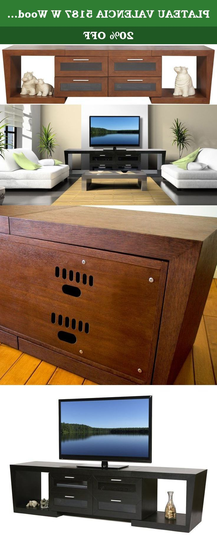 Plateau Valencia 5187 W Wood Expandable Tv Stand,… | Television With Valencia 60 Inch Tv Stands (View 10 of 20)