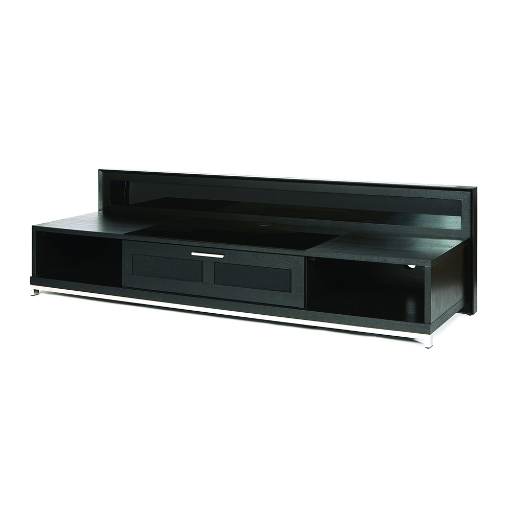 "Plateau Valencia 79b Tv Stand Up To 85"" Tvs In Black Oak Finish (View 8 of 20)"