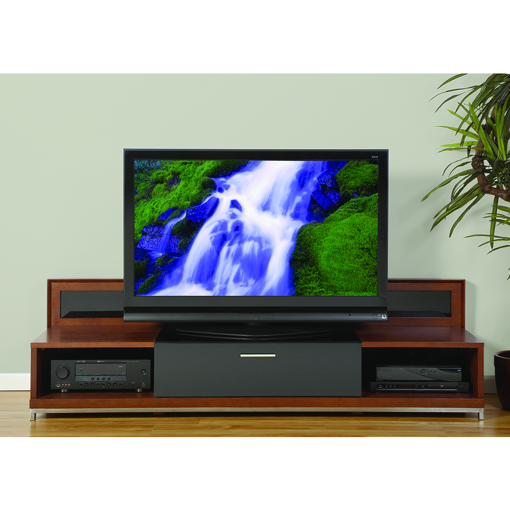 "Plateau Valencia 79w Tv Stand Up To 85"" Tvs In Walnut Finish Within Valencia 70 Inch Tv Stands (View 12 of 20)"