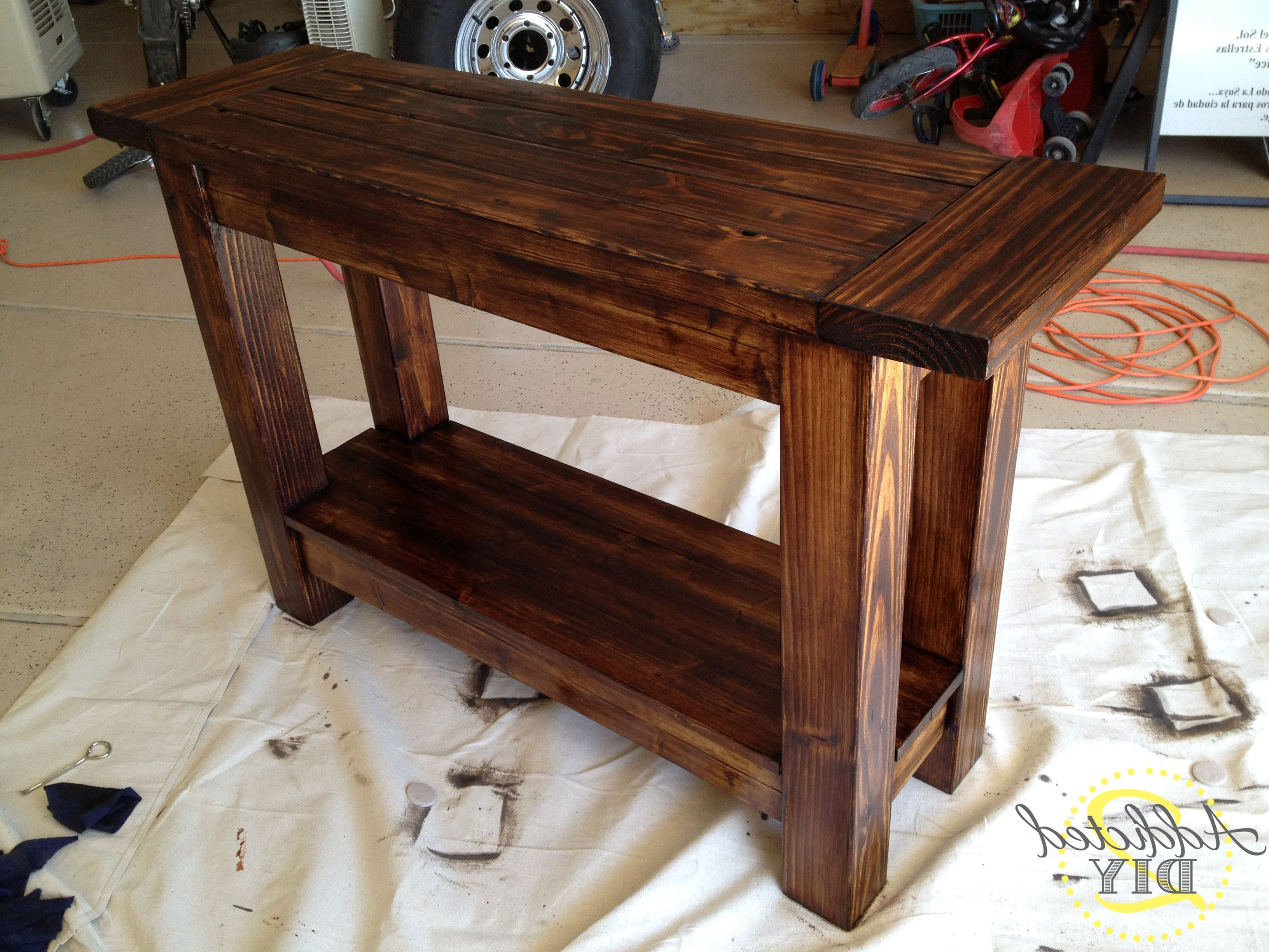 Pottery Barn Inspired Console Table | Diy Home Decor Idea Within Walters Media Console Tables (View 14 of 20)