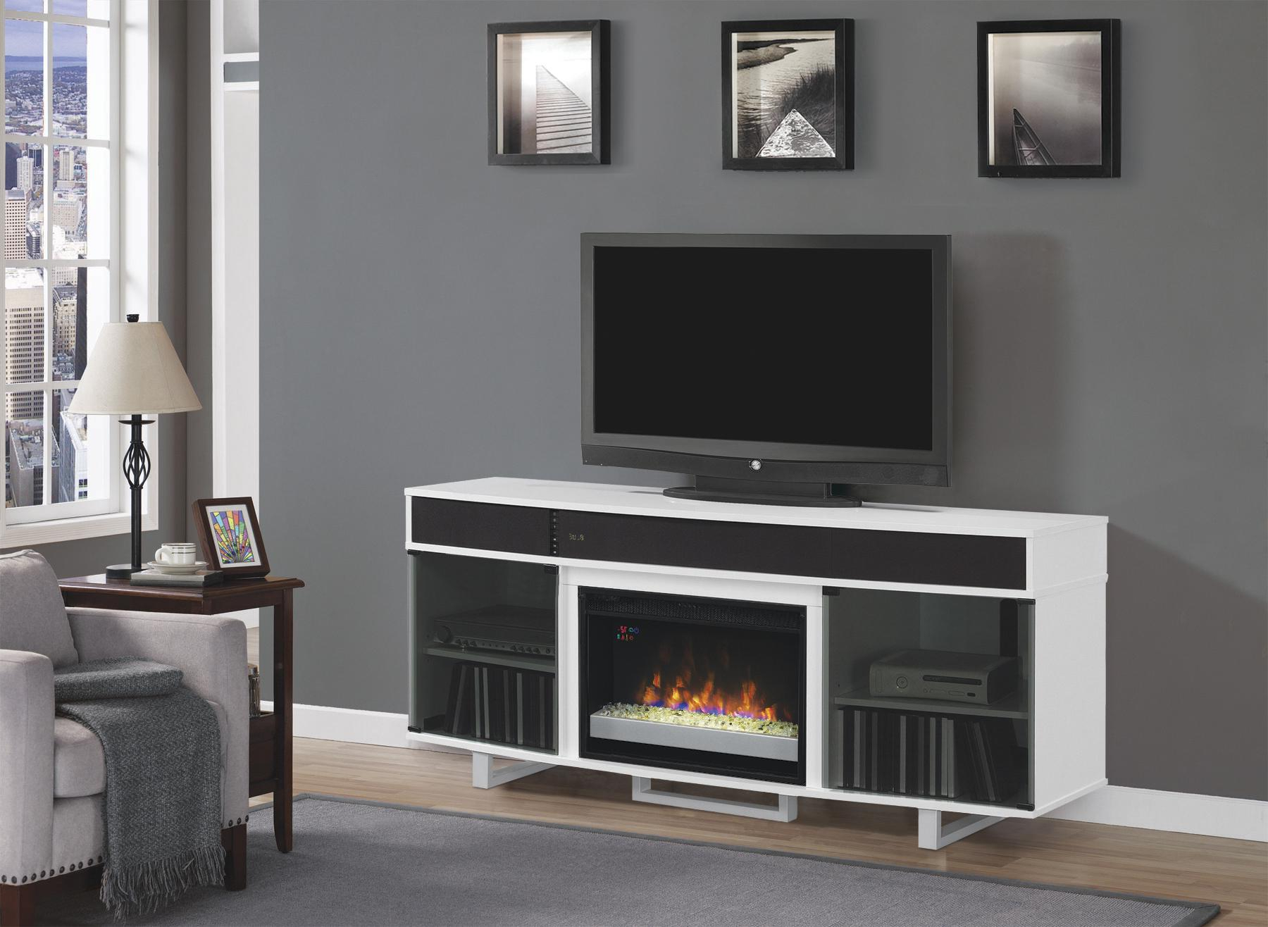 Pretty Electric Fireplace Item W Signature Designashley Keeblen In Willa 80 Inch Tv Stands (View 15 of 20)