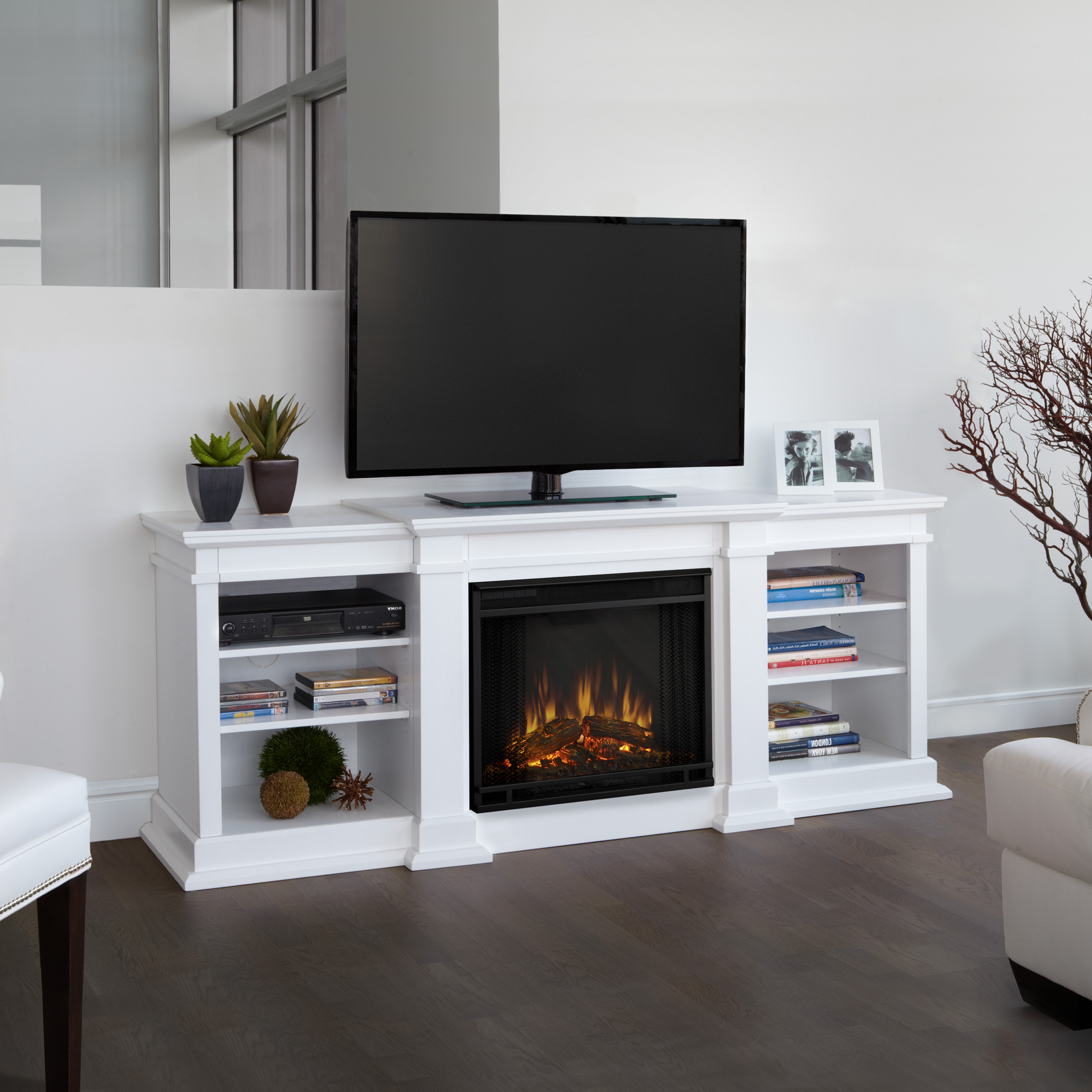 Pretty Electric Fireplace Item W Signature Designashley Keeblen Pertaining To Willa 80 Inch Tv Stands (View 16 of 20)