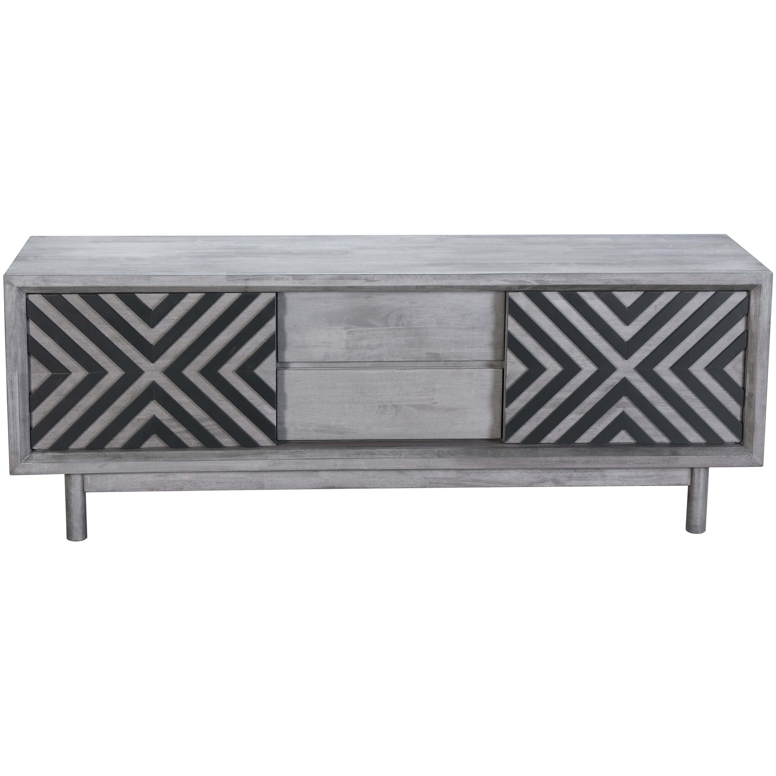 Raven Tv Stand, Old Gray – Zuo Modern – Furniture Inside Raven Grey Tv Stands (View 2 of 20)