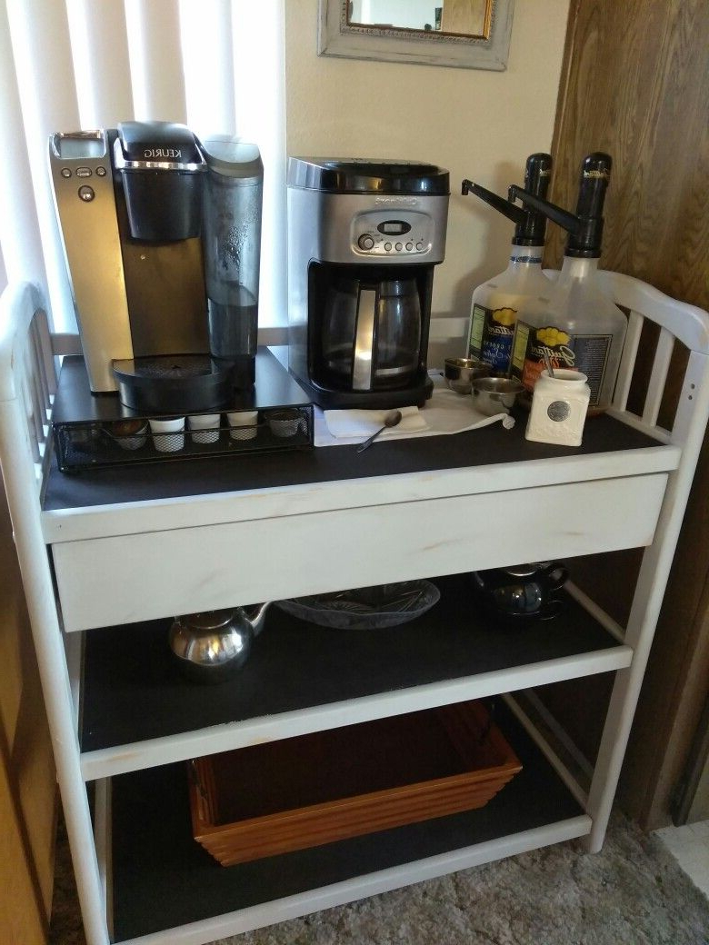 Repurposed Changing Table Turned Into A Coffee Bar, Painted With With Regard To Jacen 78 Inch Tv Stands (View 20 of 20)