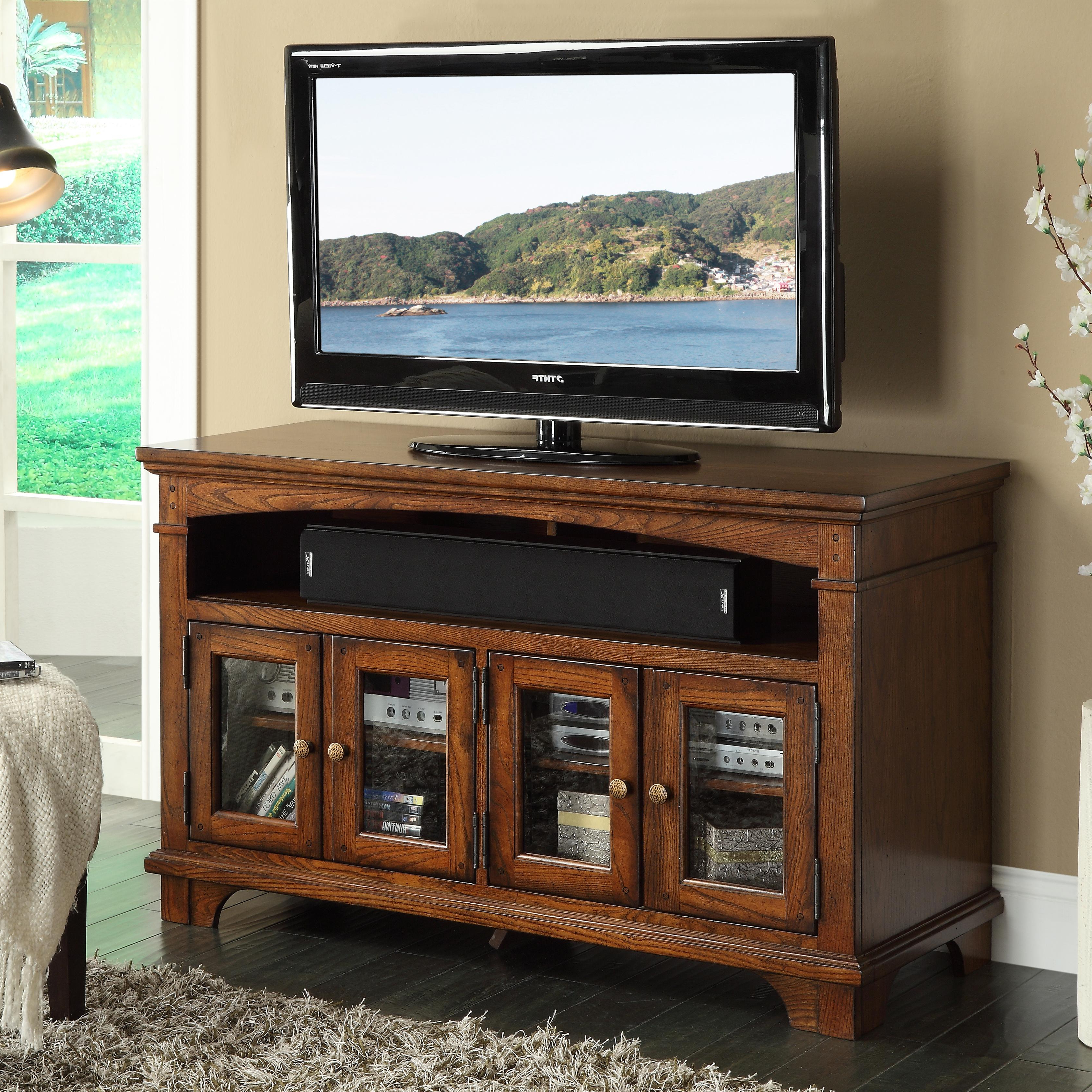 "Riverside Furniture Marston 60"" Tv Console With Framed Glass Doors In Lauderdale 74 Inch Tv Stands (Gallery 8 of 20)"