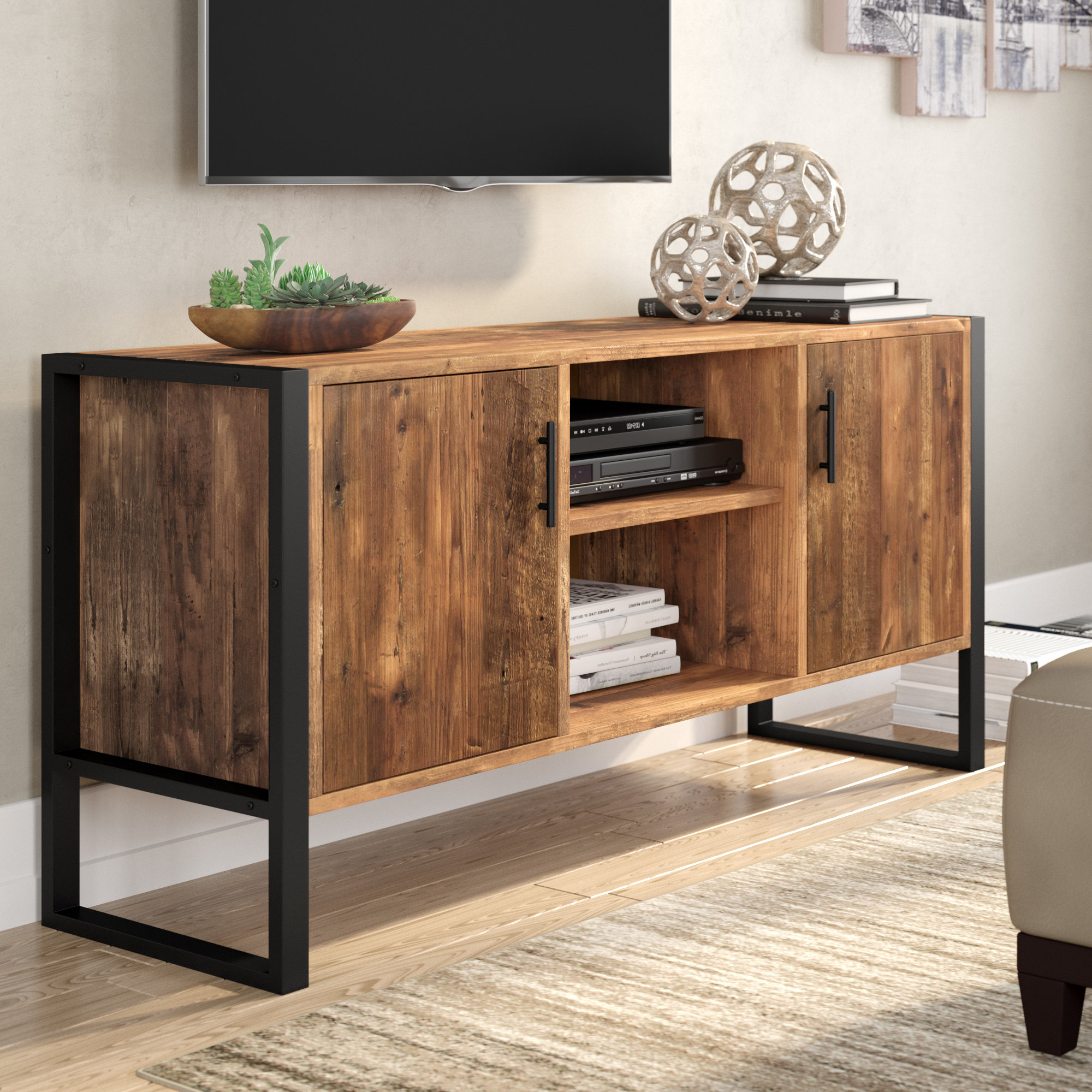 """Rochester Tv Stand For Tvs Up To 70"""" & Reviews   Joss & Main For Walton Grey 60 Inch Tv Stands (View 11 of 20)"""