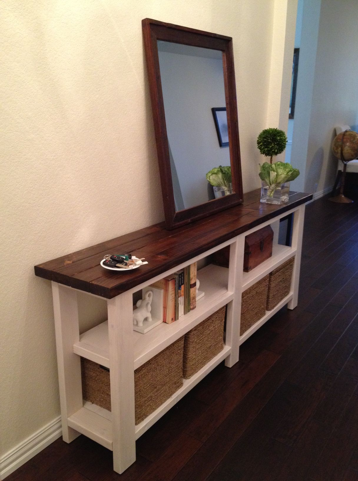 Rustic Chic Console Table | For The Home | Console Table, Home Decor Pertaining To Natural Wood Mirrored Media Console Tables (View 15 of 20)