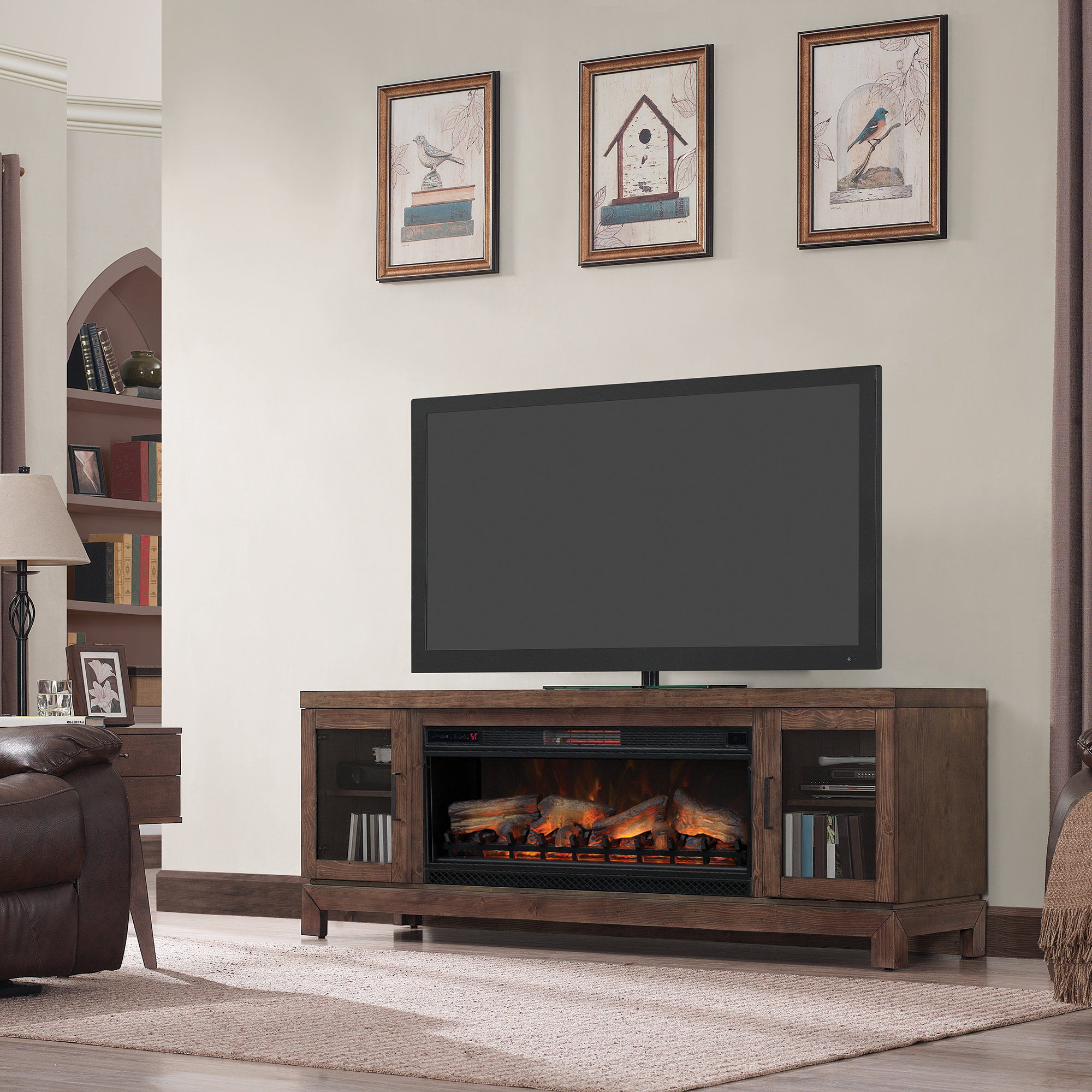 Rustic Tv Stand Fireplaces You'll Love | Wayfair (View 13 of 20)