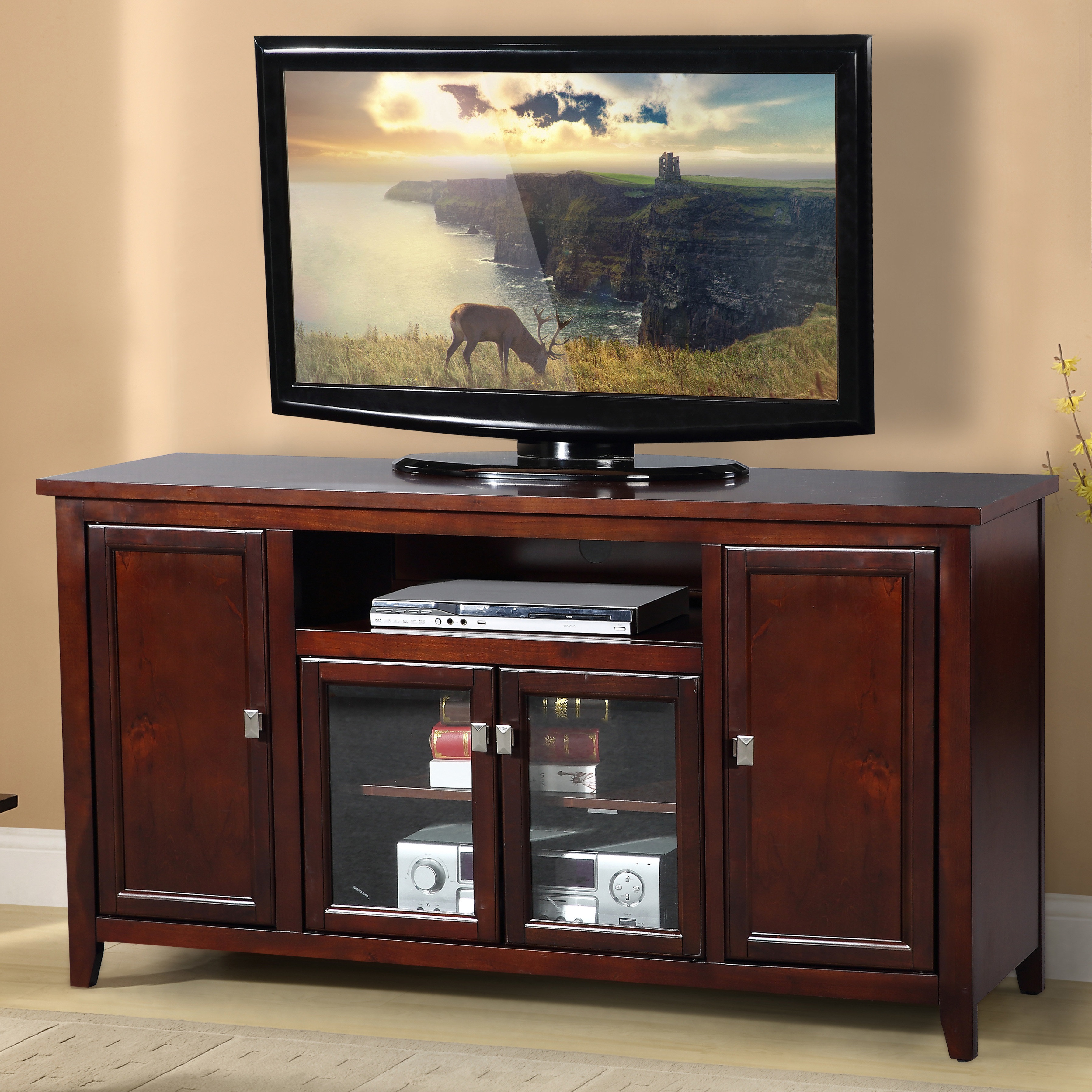 Rustic Tv Stands & Entertainment Centers You'll Love | Wayfair For Walton 74 Inch Open Tv Stands (View 20 of 20)