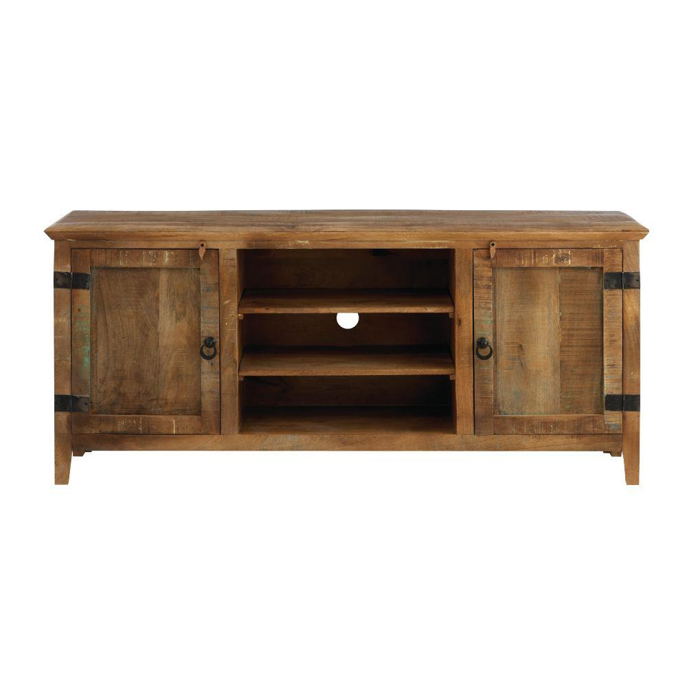 Rustic – Tv Stands – Living Room Furniture – The Home Depot Within Noah 75 Inch Tv Stands (View 10 of 20)