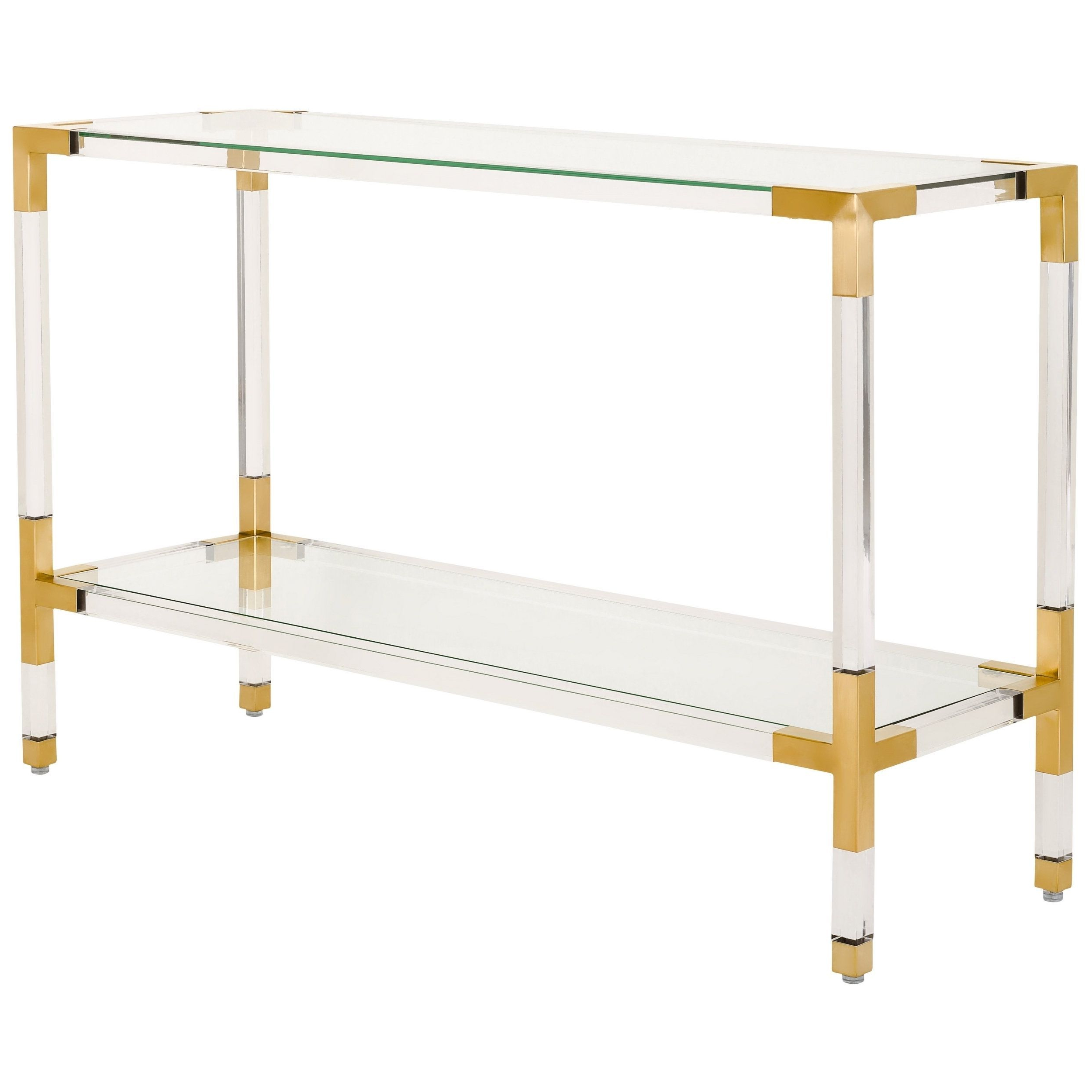 Safavieh Couture Arverne Acrylic Console , Clear | Pinterest In Parsons Clear Glass Top & Brass Base 48X16 Console Tables (View 14 of 20)