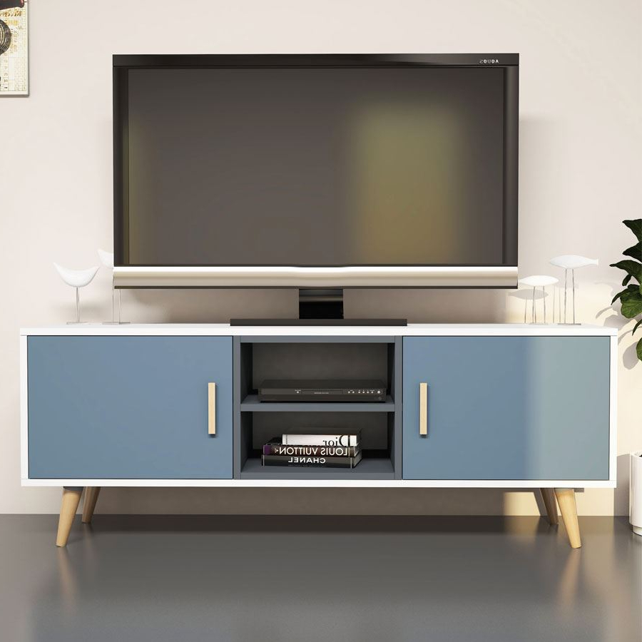 Safir Tv Ünitesi Beyaz Antrasit | Tv Üniteleri | Koçtaş In Cato 60 Inch Tv Stands (Gallery 12 of 20)