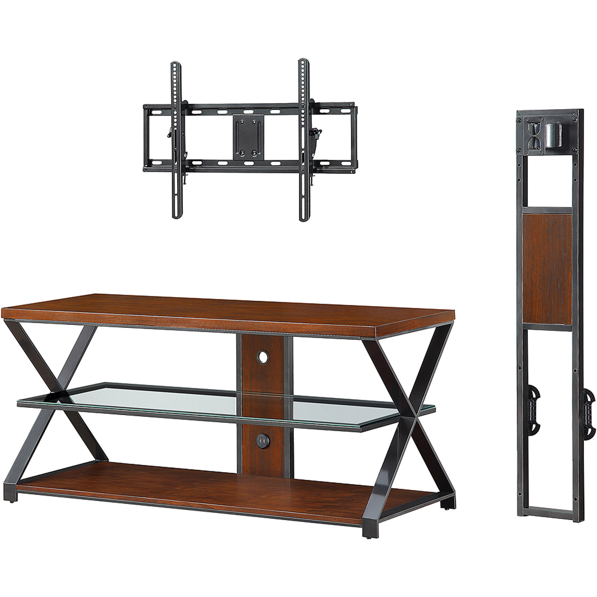 Sarah Tv Stands: Jaxon 3 In 1 Cognac Tv Stand For Tvs Up To 70'' Throughout Jaxon 65 Inch Tv Stands (View 16 of 20)