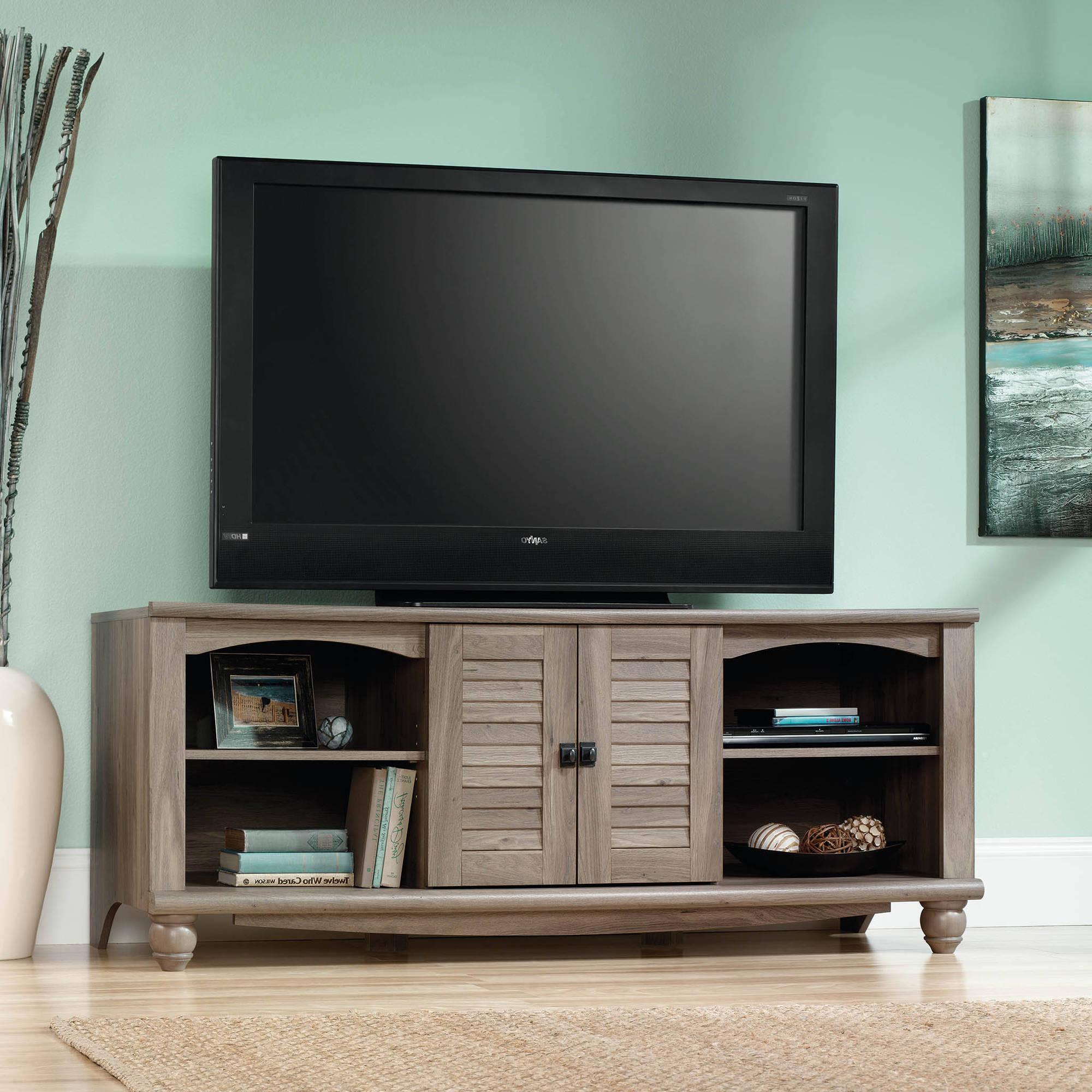 Sauder Shoal Creek Collection Nightstand, Oiled Oak – Walmart Regarding Wakefield 85 Inch Tv Stands (View 17 of 20)