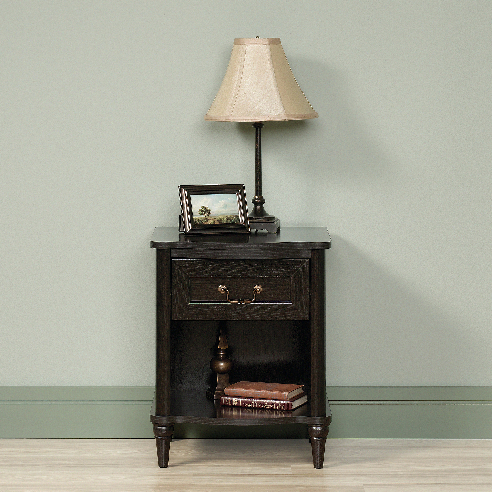 Sauder Shoal Creek Collection Nightstand, Oiled Oak – Walmart With Regard To Wakefield 85 Inch Tv Stands (View 10 of 20)
