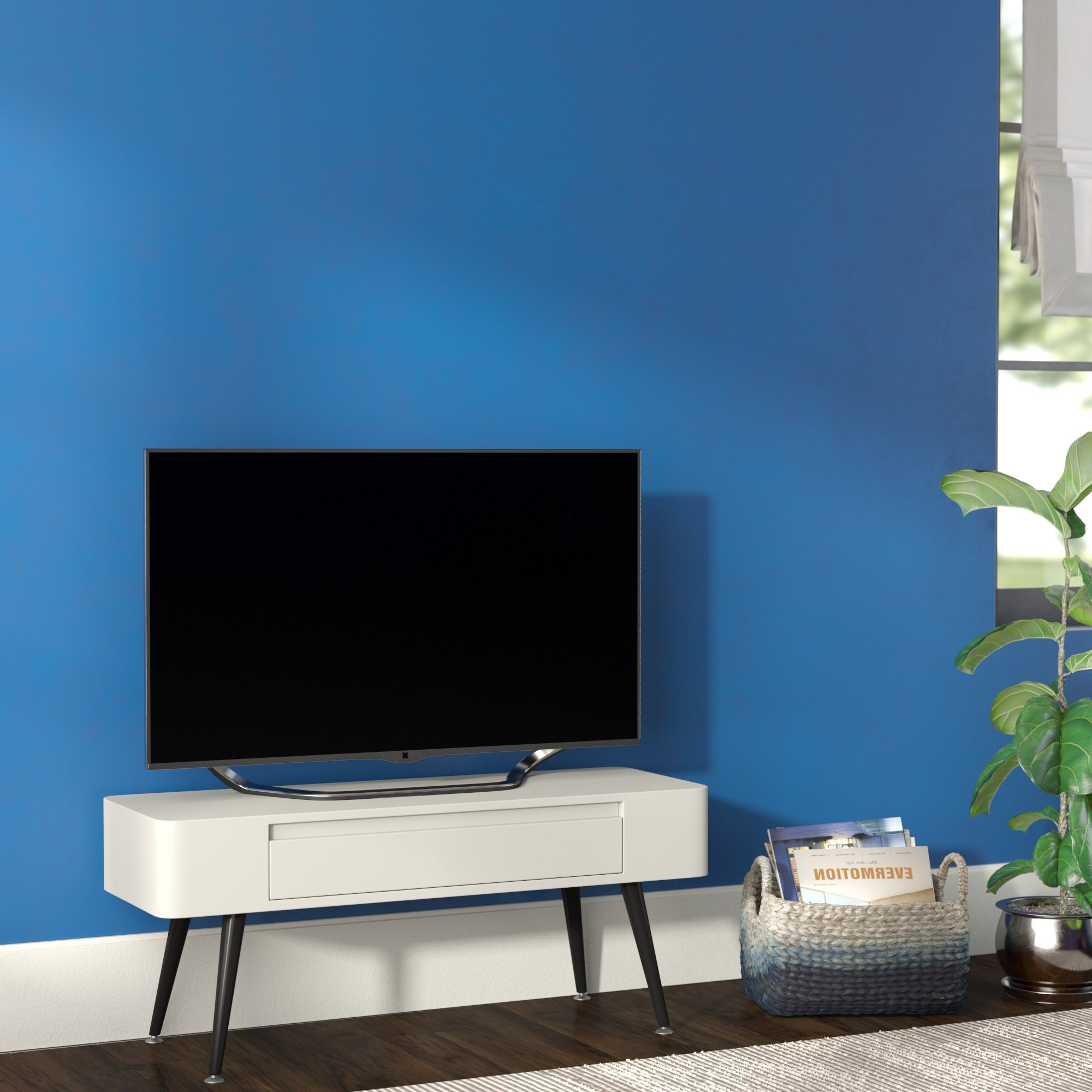 Scandinavian Tv Stands You'll Love | Wayfair.ca Intended For Annabelle Blue 70 Inch Tv Stands (Gallery 11 of 20)