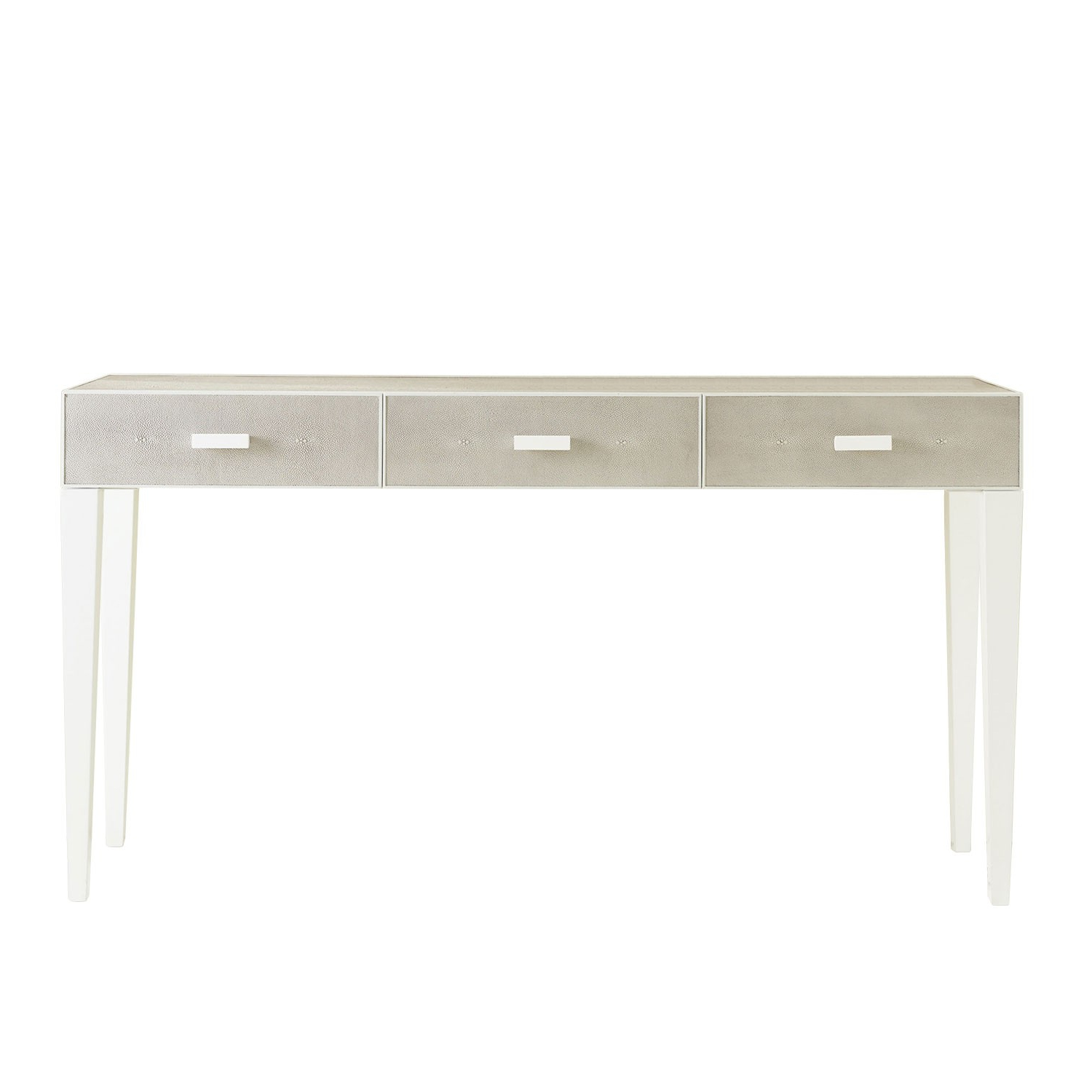 Shagreen 3 Drawer Console Table – Grey | Somerset Bay Sbt387 Within Grey Shagreen Media Console Tables (Gallery 1 of 20)