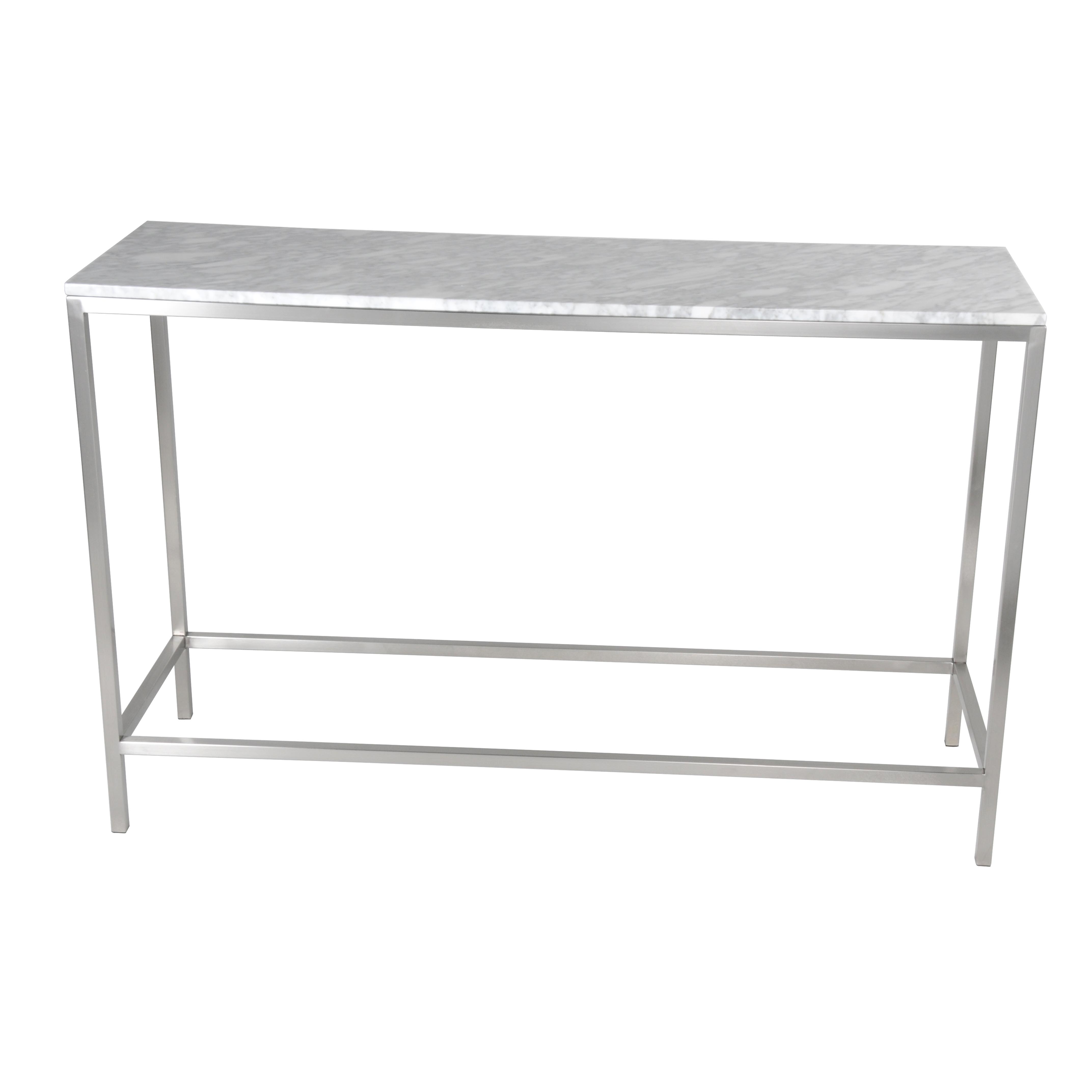 Shea Kd Console Table Frame(top Sold Separately), Brushed Stainless With Frame Console Tables (View 17 of 20)