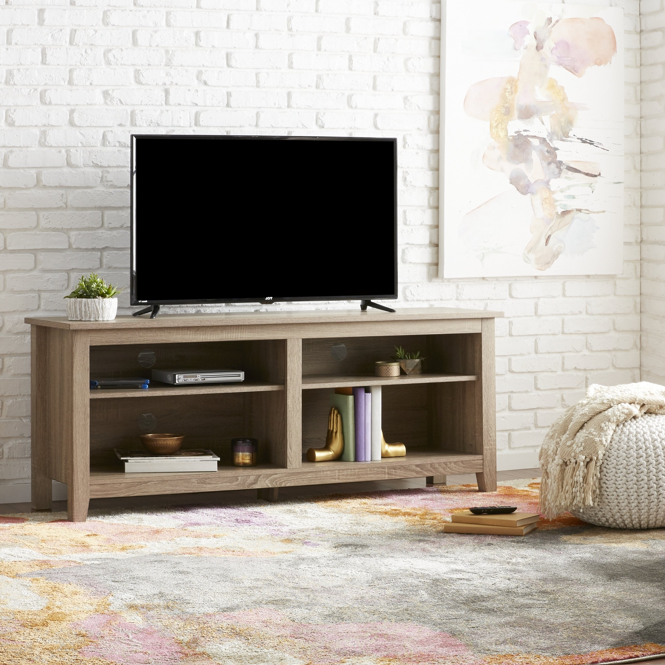 Shop 58 Inch Driftwood Tv Stand – Free Shipping On Orders Over $45 Intended For Abbot 60 Inch Tv Stands (View 11 of 20)