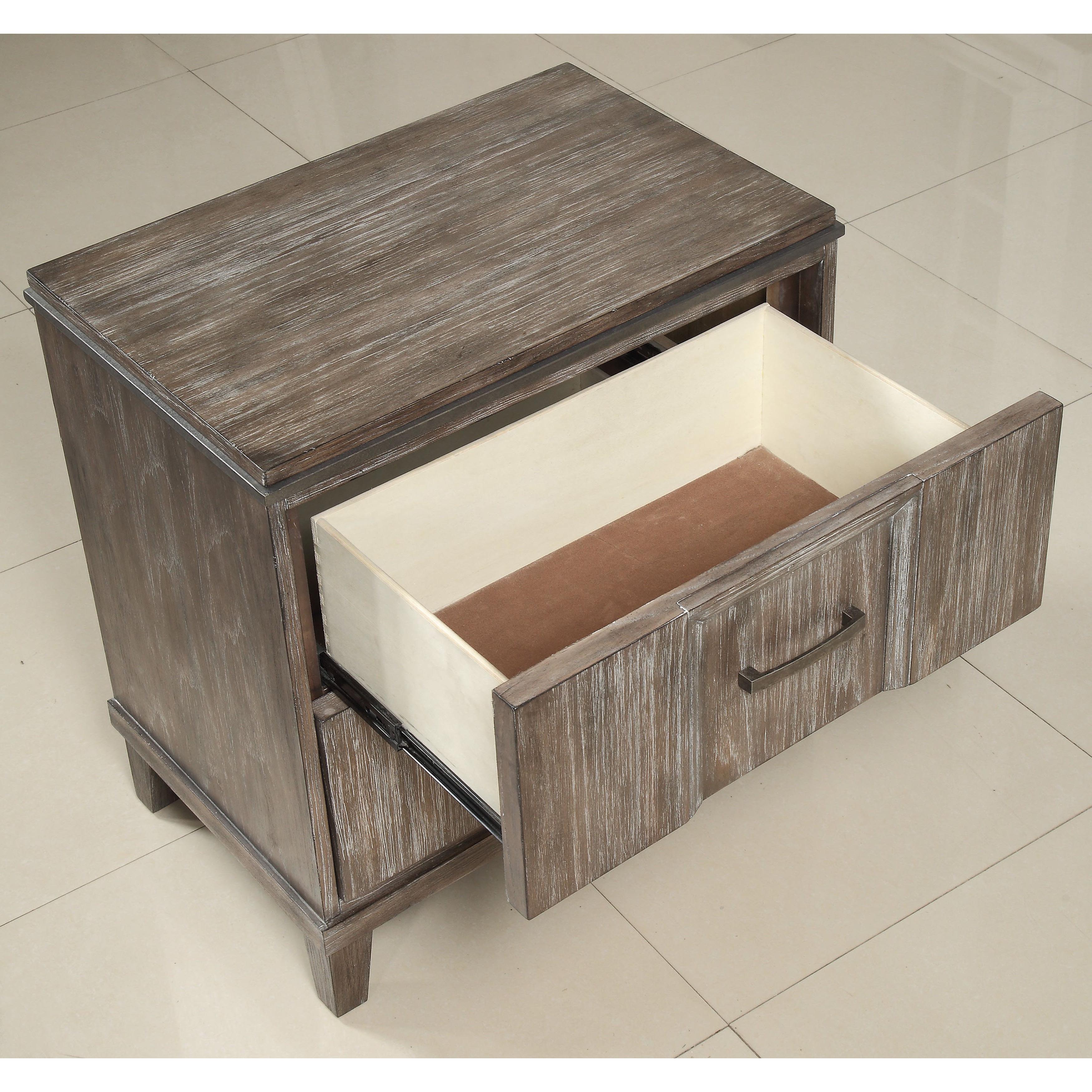 Shop Acme Furniture Bayonne Burnt Oak 2 Drawer Nightstand With In Burnt Oak Metal Sideboards (Gallery 15 of 20)