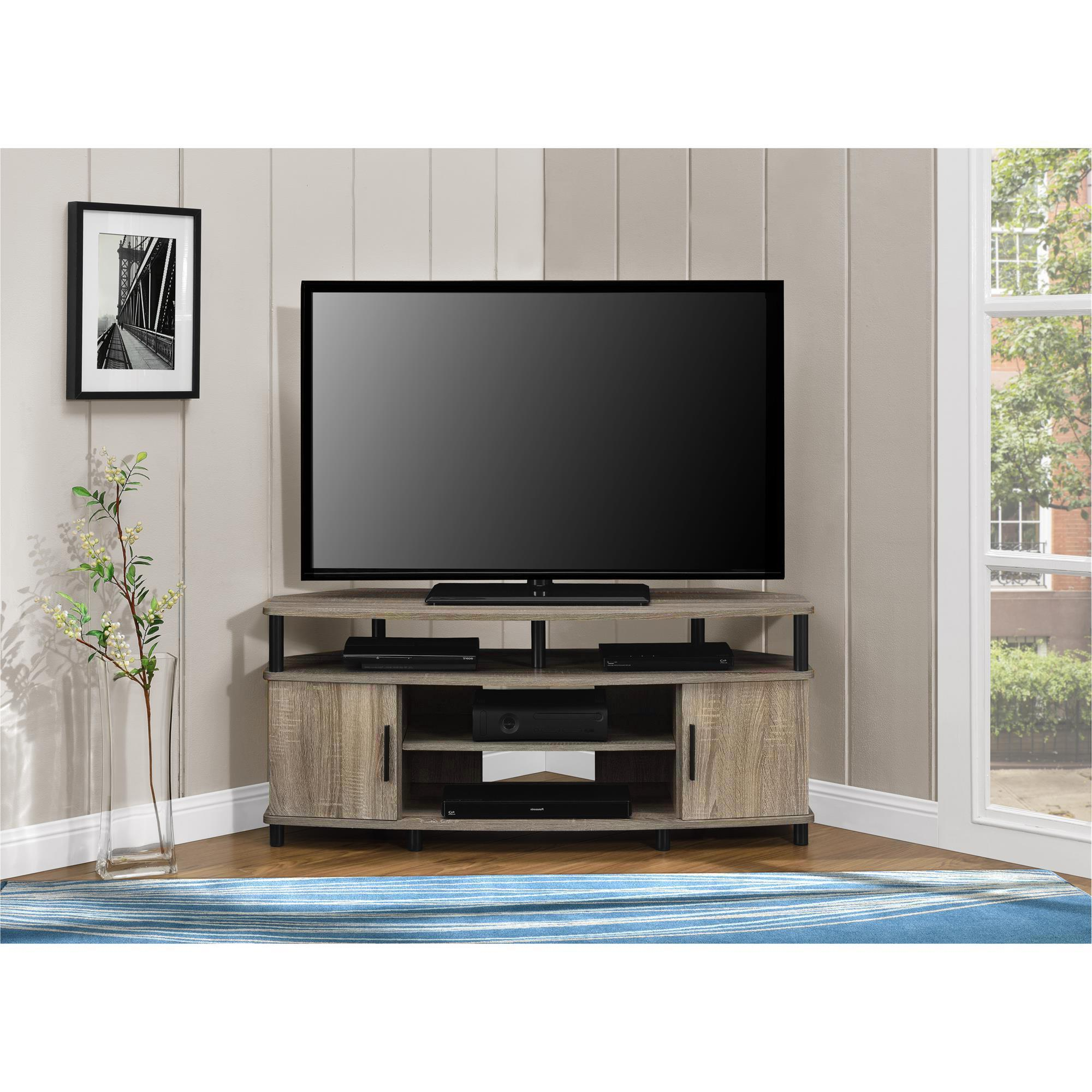 Shop Ameriwood Home Carson 50 Inch Sonoma Oak Corner Tv Stand – Free With Regard To Century Blue 60 Inch Tv Stands (Gallery 13 of 20)