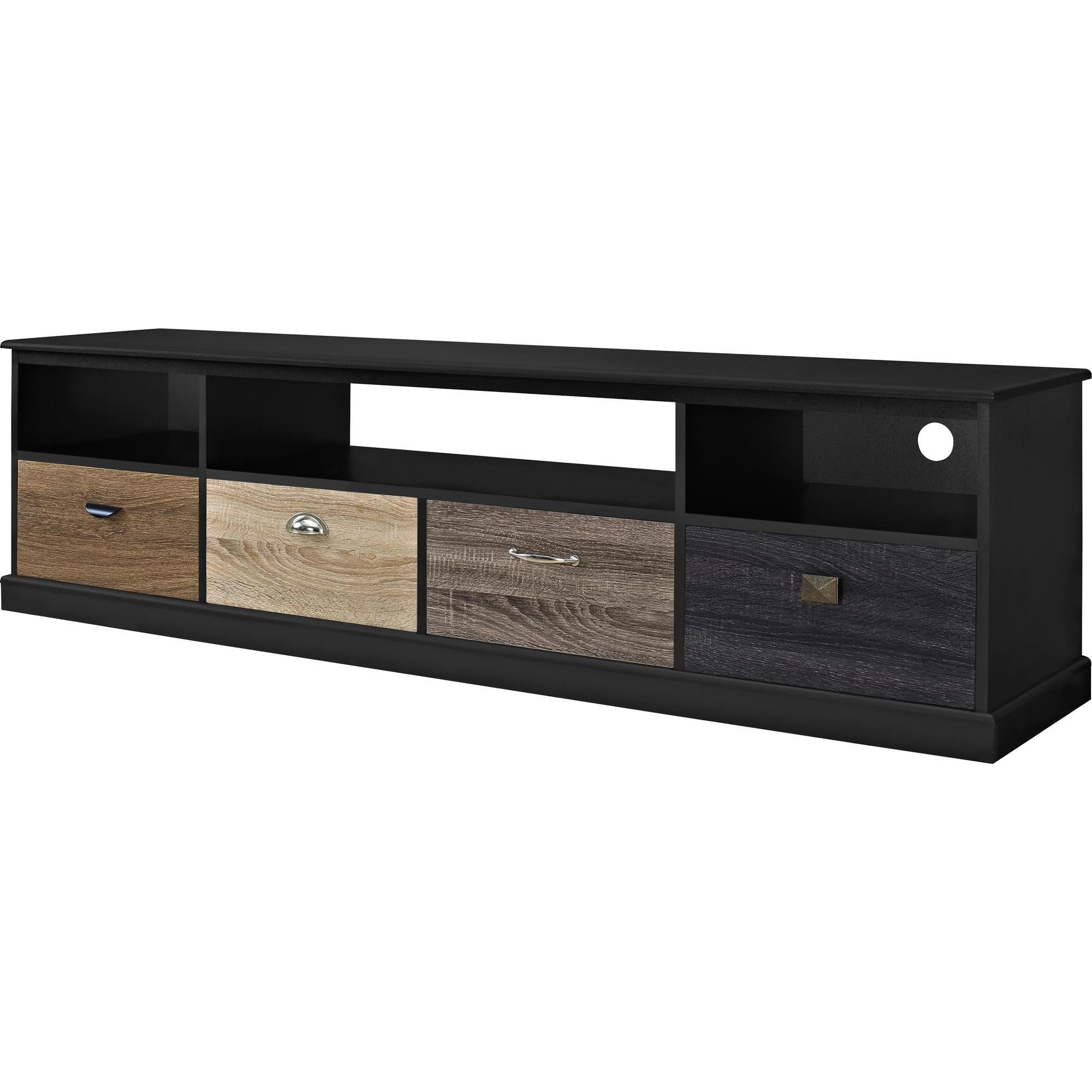 Shop Avenue Greene Mercer 65 Inch Black Tv Console With Multicolored Inside Kilian Grey 49 Inch Tv Stands (View 2 of 20)