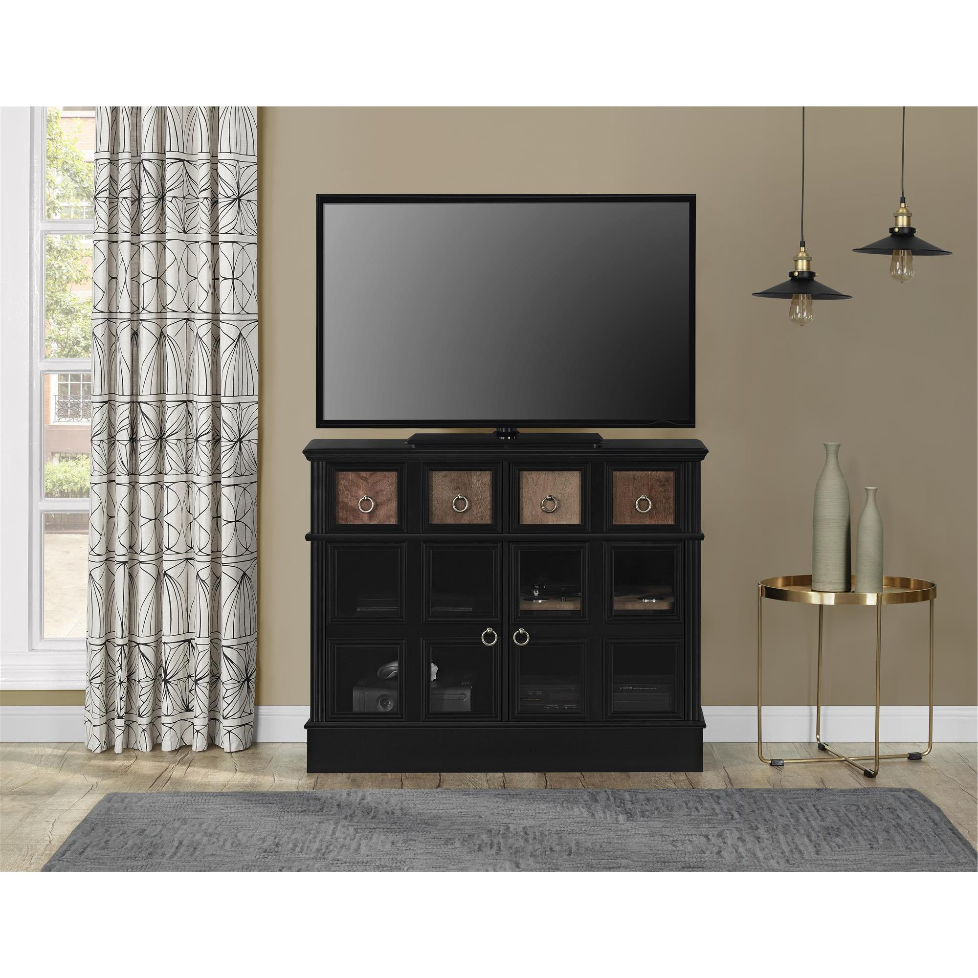 Shop Avenue Greene Wakefield Apothecary 42 Inch Black Tv Console In Wakefield 97 Inch Tv Stands (Gallery 10 of 20)