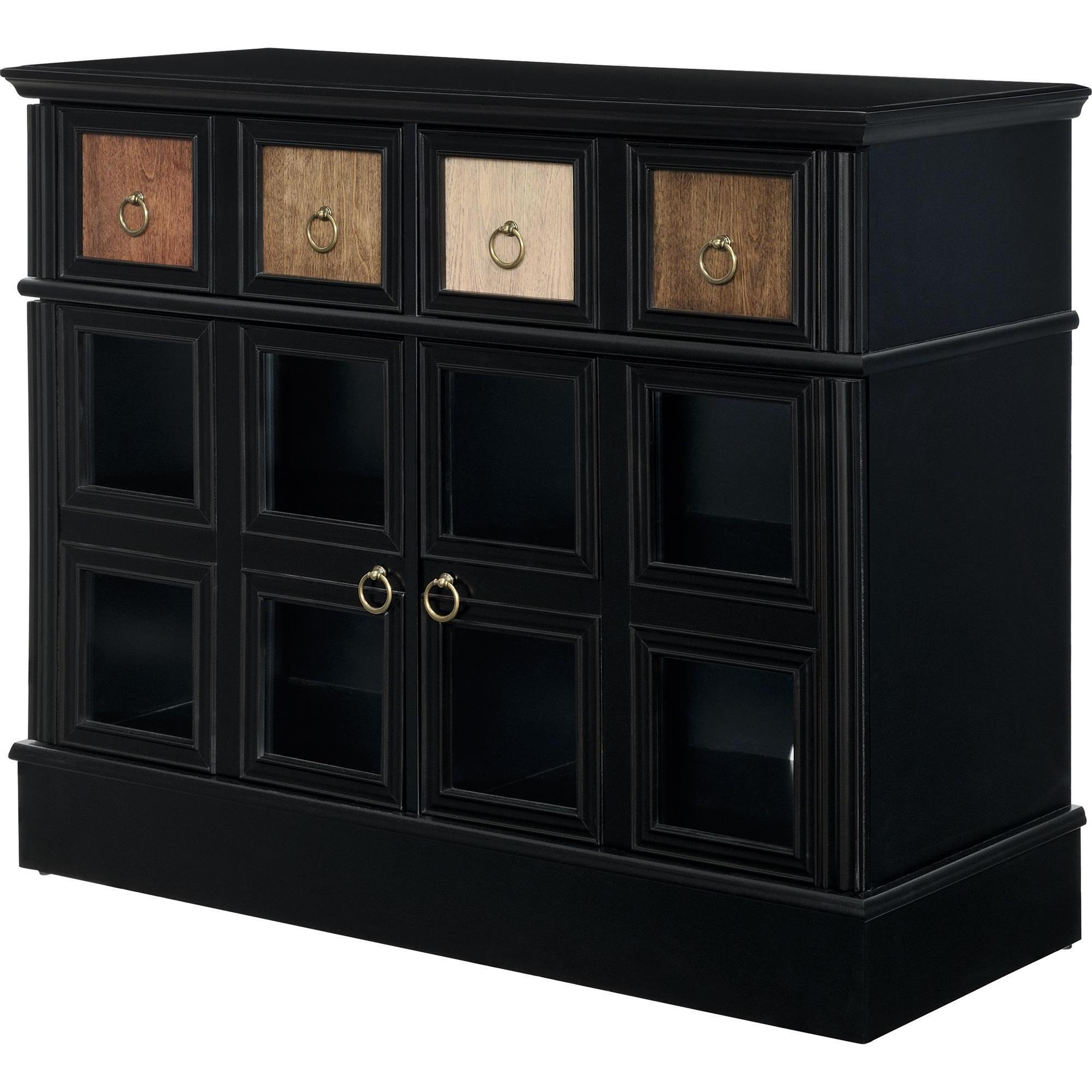 Shop Avenue Greene Wakefield Apothecary 42 Inch Black Tv Console Intended For Wakefield 97 Inch Tv Stands (View 20 of 20)