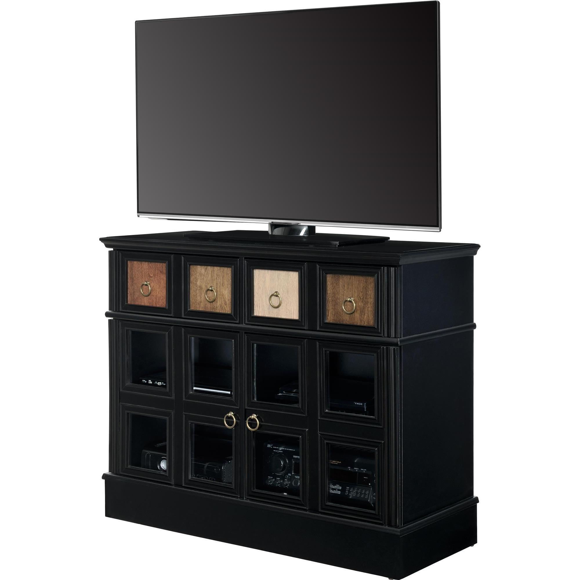 Shop Avenue Greene Wakefield Apothecary 42 Inch Black Tv Console Intended For Wakefield 97 Inch Tv Stands (Gallery 8 of 20)