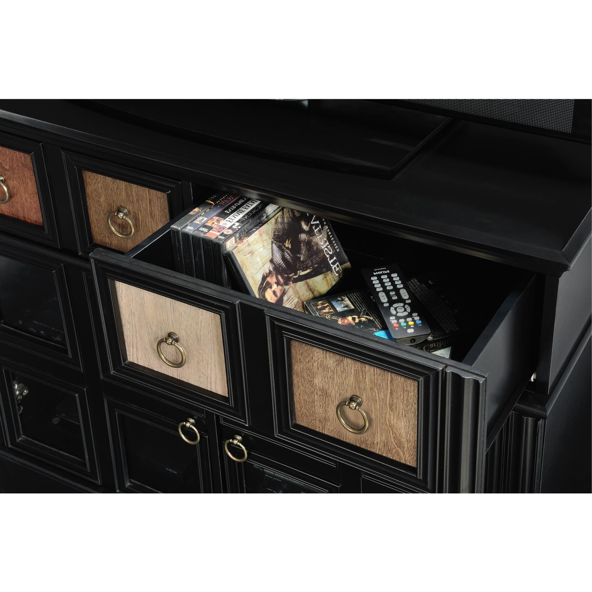 Shop Avenue Greene Wakefield Apothecary 42 Inch Black Tv Console Within Wakefield 97 Inch Tv Stands (View 19 of 20)
