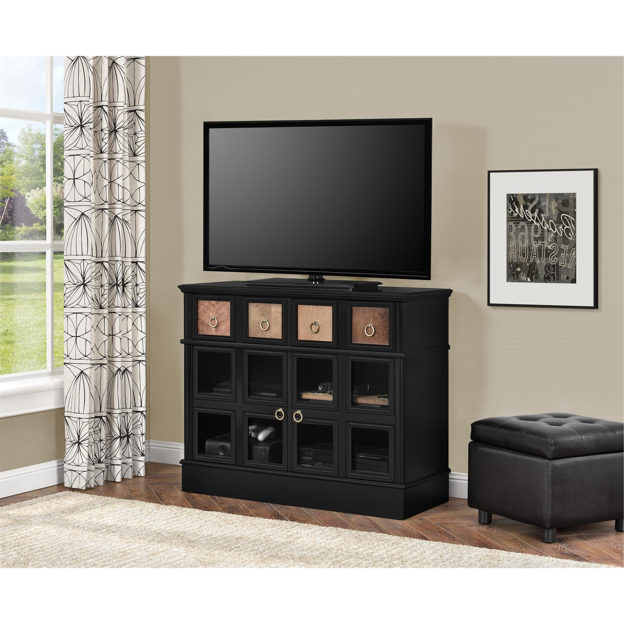 Shop Avenue Greene Wakefield Apothecary 42 Inch Black Tv Console Within Wakefield 97 Inch Tv Stands (View 5 of 20)