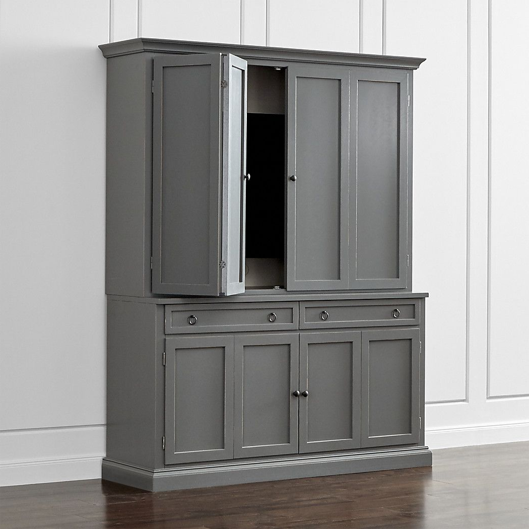 Shop Cameo 2 Piece Grey Entertainment Center. This Modular Tv Stand Intended For Sinclair Grey 68 Inch Tv Stands (Gallery 13 of 20)
