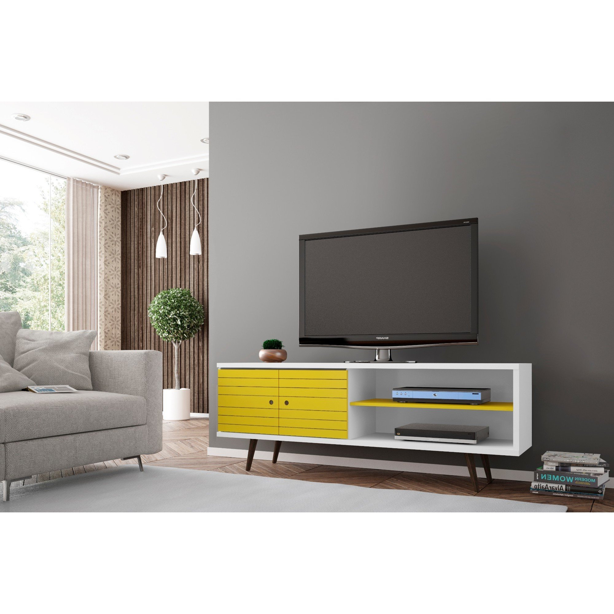 Shop Carson Carrington Sortland Wooden Modern Tv Stand – On Sale Pertaining To Canyon 64 Inch Tv Stands (Gallery 13 of 20)