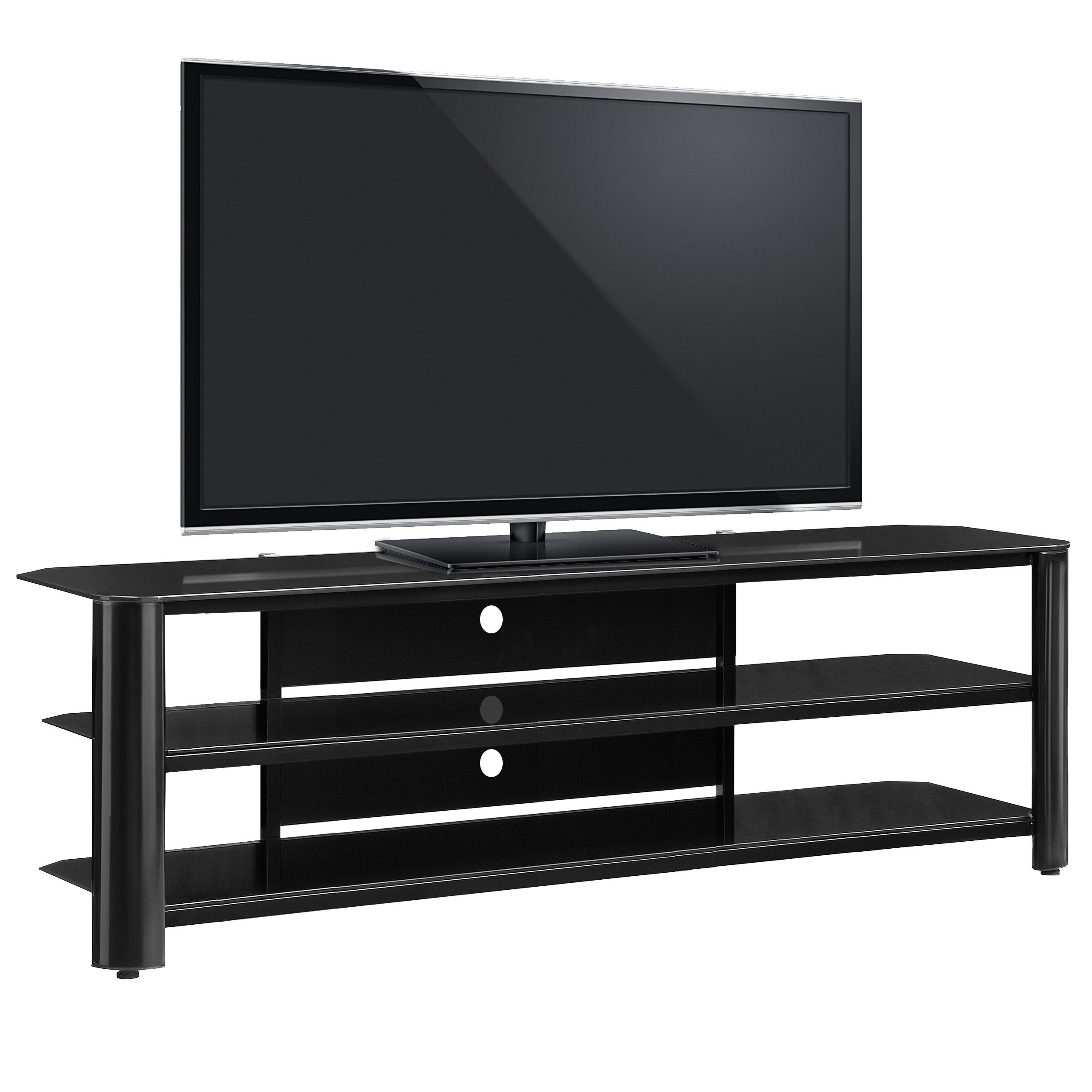 Shop Fold 'n' Snap Oxford 65 Inch Black Innovex Tv Stand – Free Pertaining To Oxford 60 Inch Tv Stands (Gallery 1 of 20)