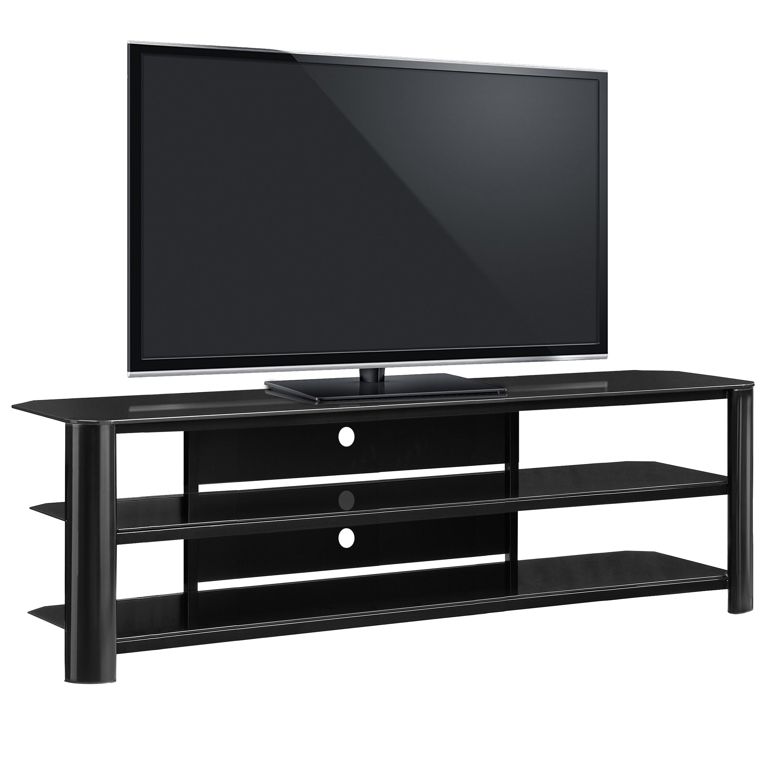 Shop Fold 'n' Snap Oxford Ez Black Innovex Tv Stand – Free Shipping Inside Oxford 84 Inch Tv Stands (View 12 of 20)