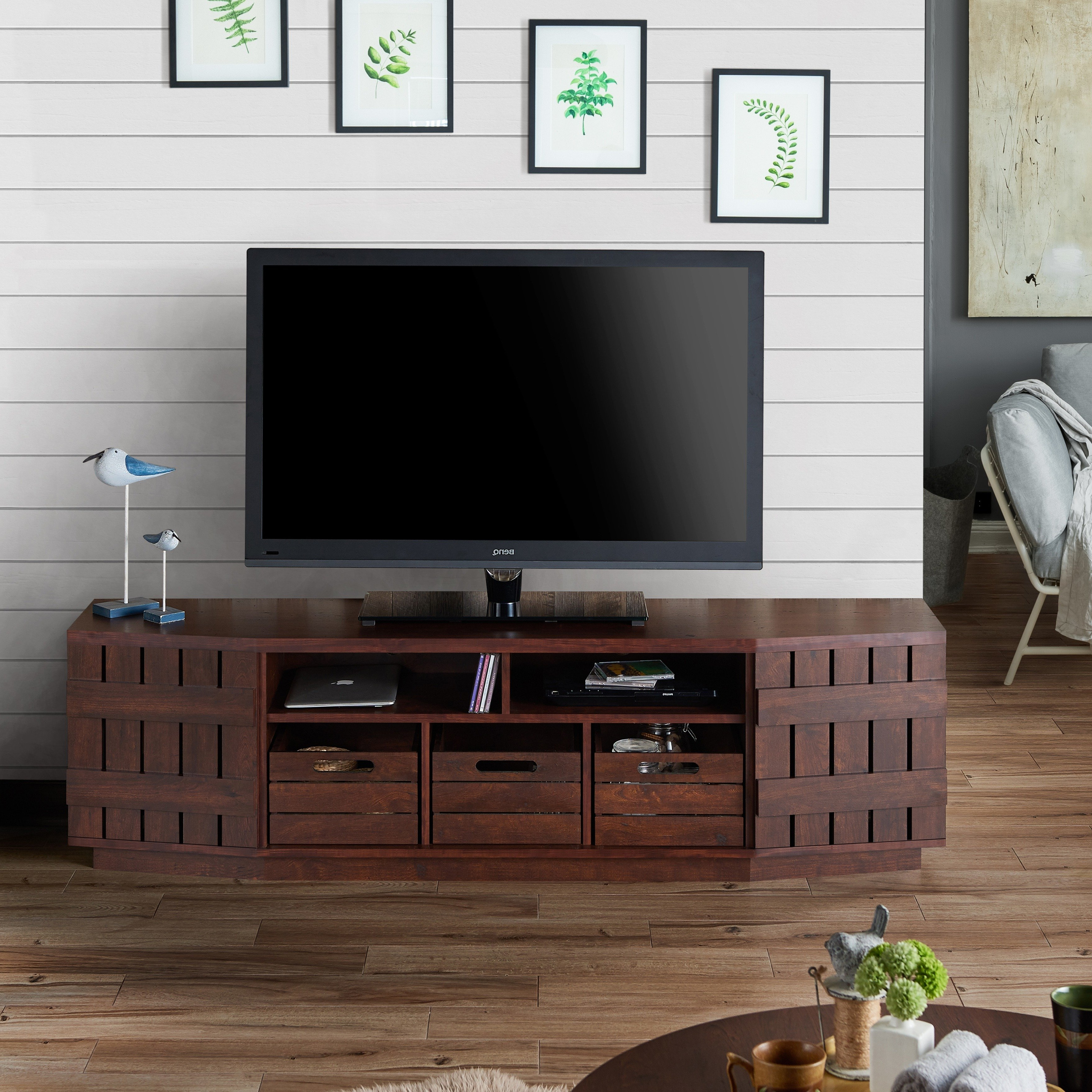Shop Furniture Of America Harla Rustic 70 Inch Tv Stand With For Casey Grey 54 Inch Tv Stands (View 7 of 20)