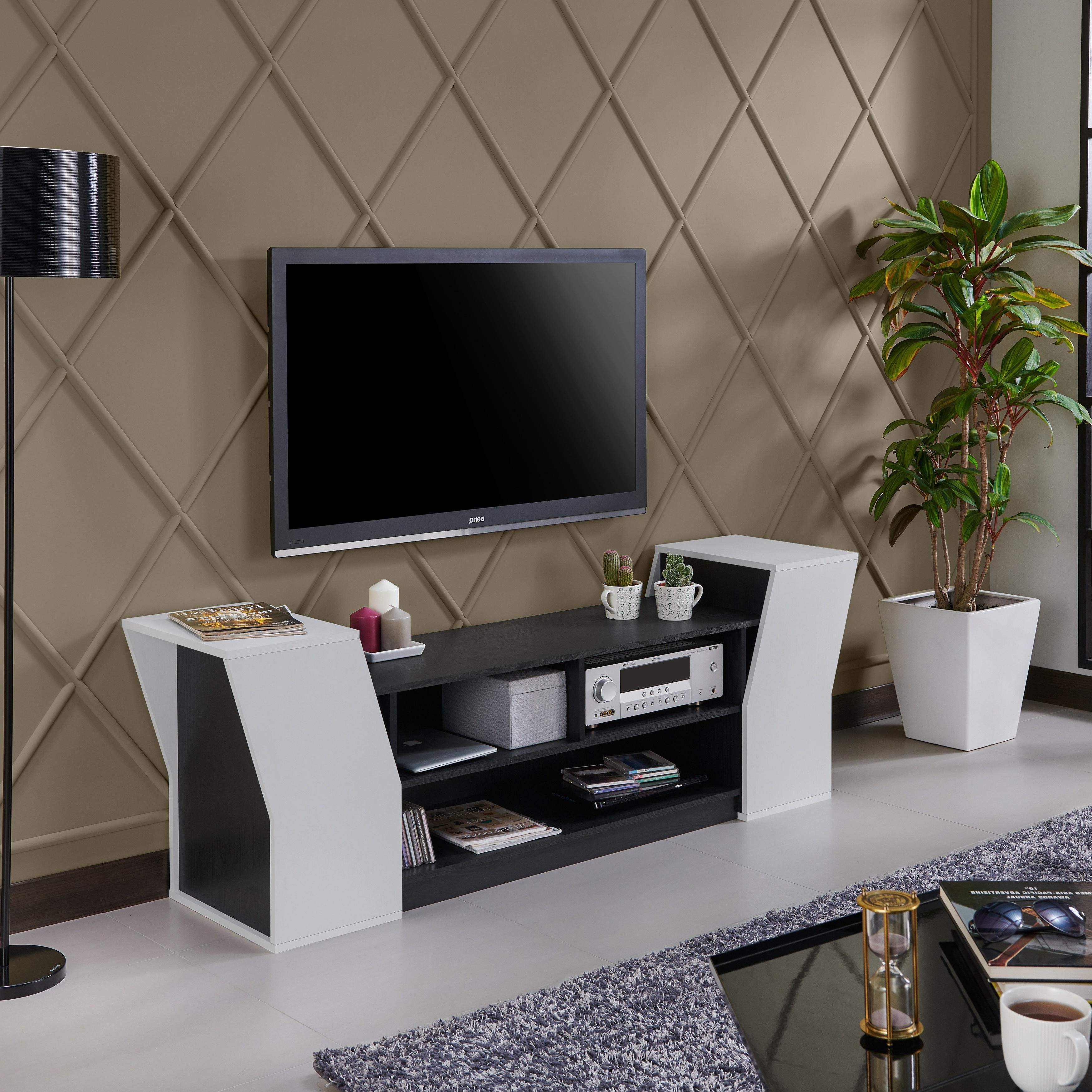 Shop Furniture Of America Paulson Contemporary 70 Inch Tv Stand – On For Casey Grey 54 Inch Tv Stands (Gallery 17 of 20)