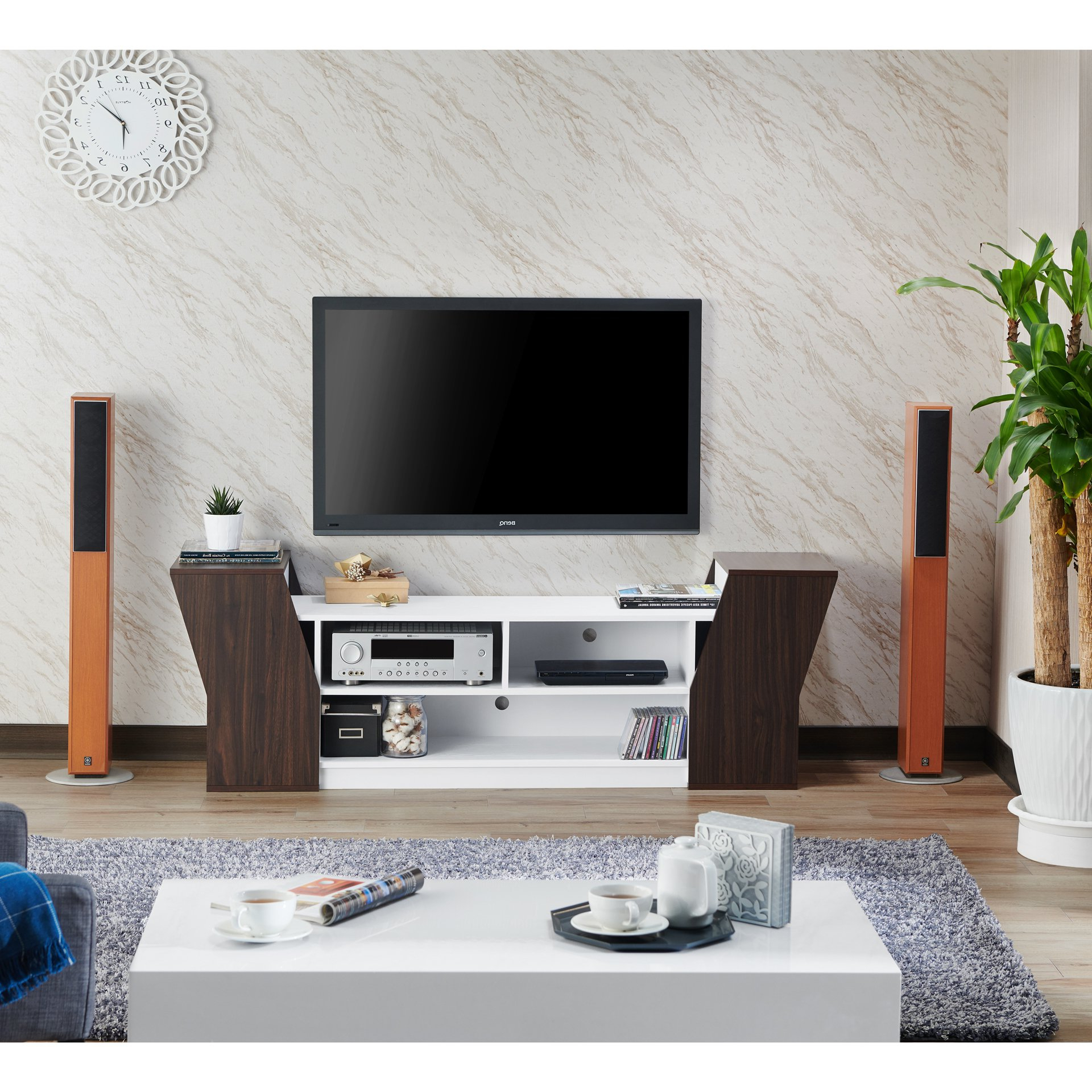 Shop Furniture Of America Paulson Contemporary 70 Inch Tv Stand – On Inside Casey Grey 54 Inch Tv Stands (View 15 of 20)