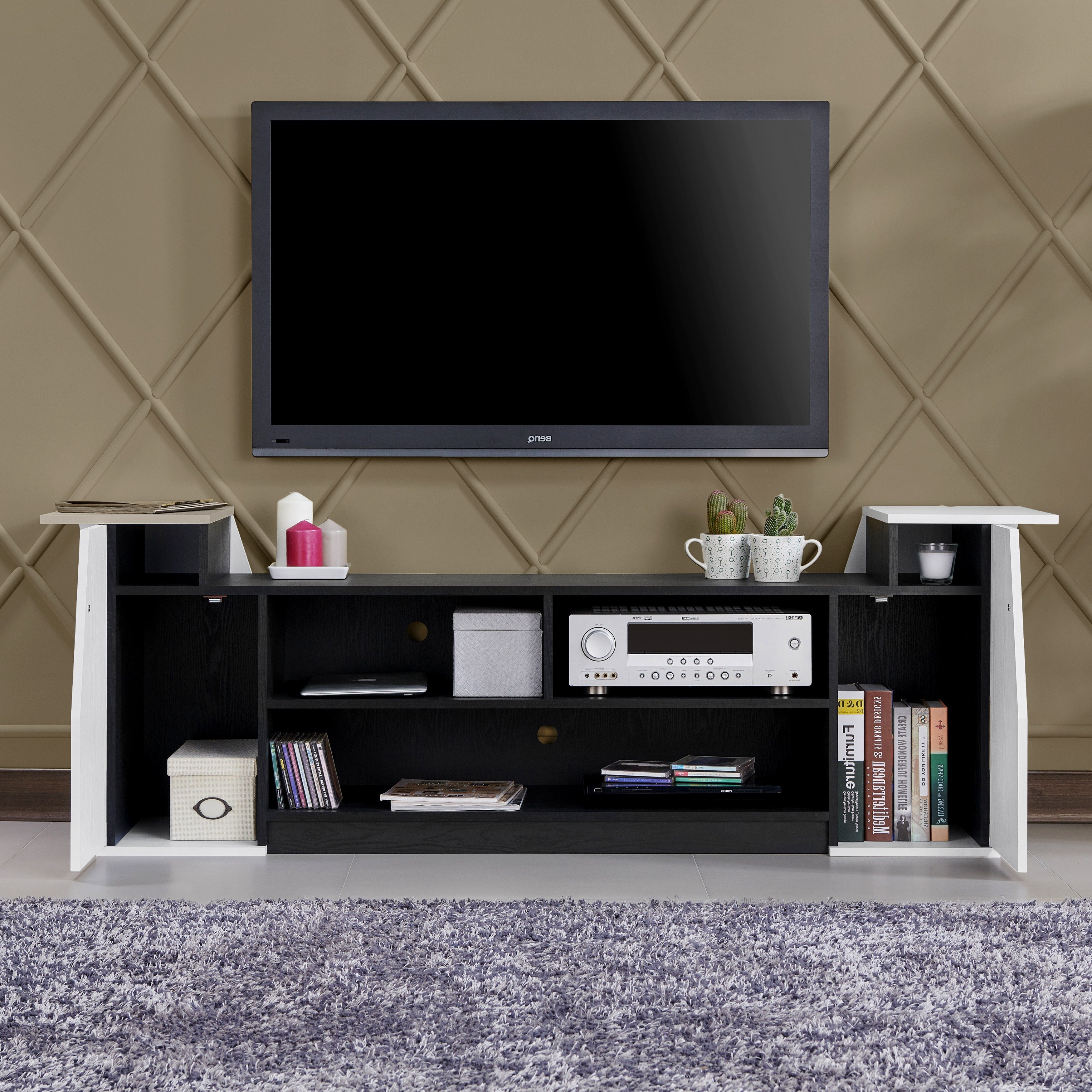 Shop Furniture Of America Paulson Contemporary 70 Inch Tv Stand – On Intended For Casey Grey 74 Inch Tv Stands (View 13 of 20)
