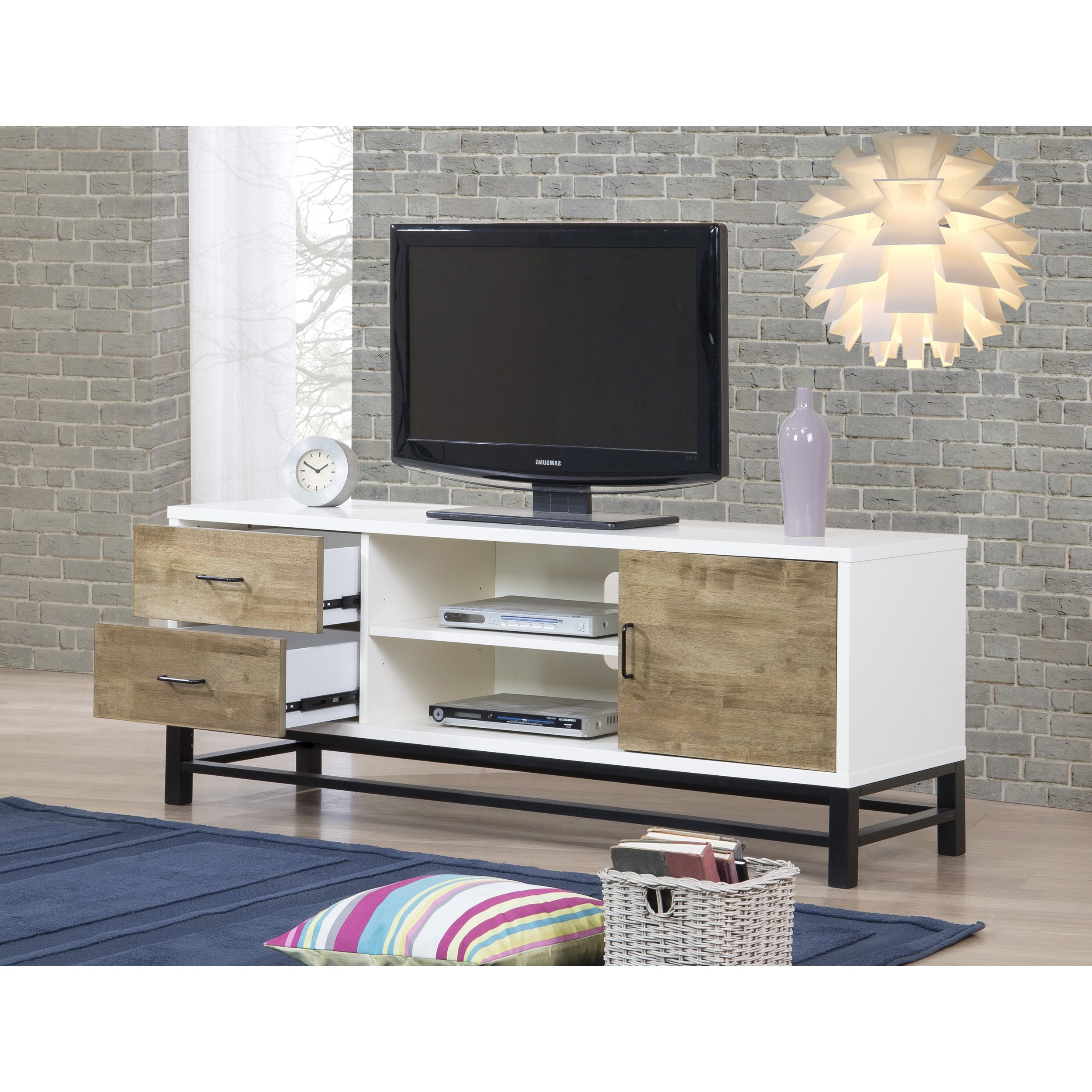Shop Henna 63 Inch Entertainment Center Console – Free Shipping In Combs 63 Inch Tv Stands (View 8 of 20)