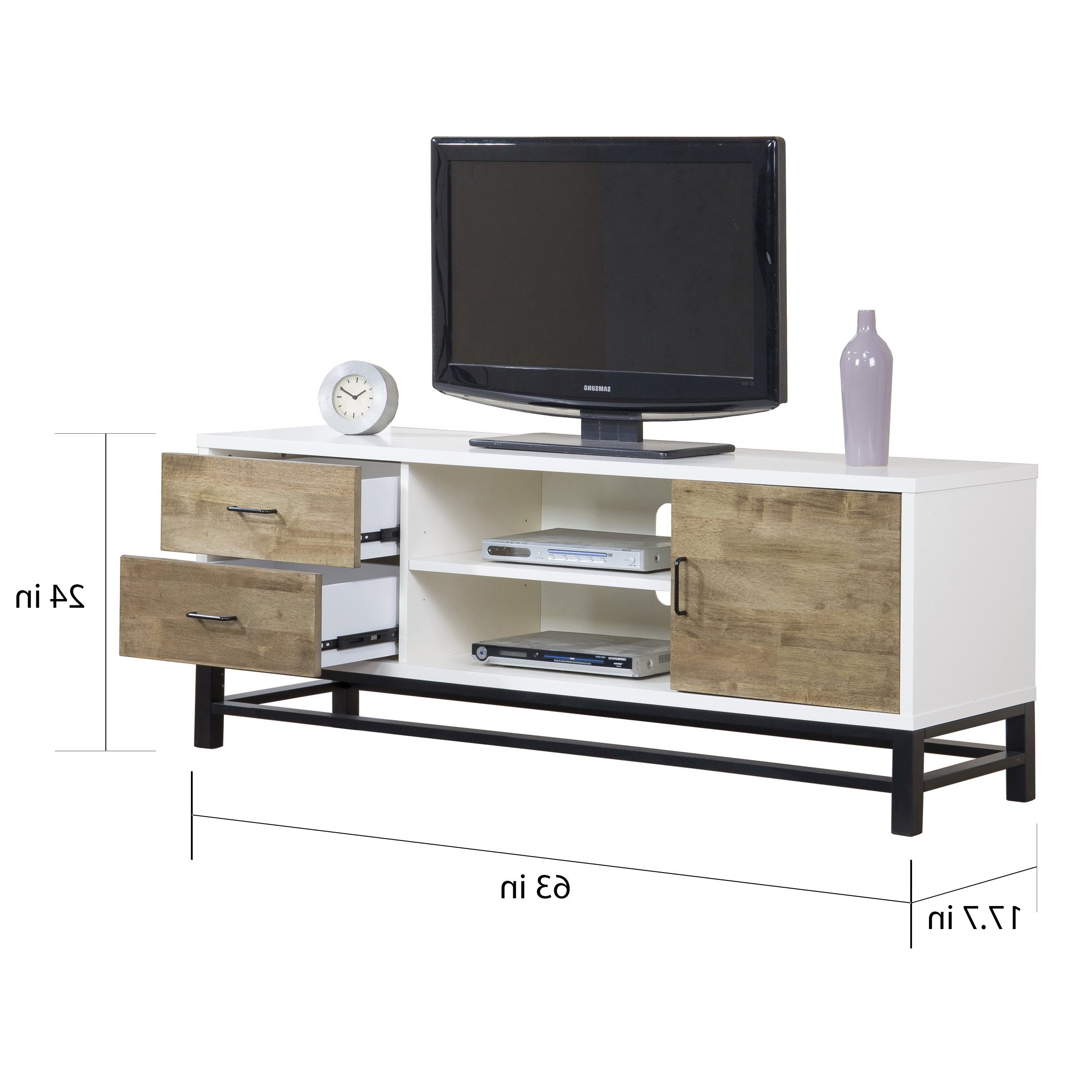 Shop Henna 63 Inch Entertainment Center Console – Free Shipping Intended For Combs 63 Inch Tv Stands (View 18 of 20)