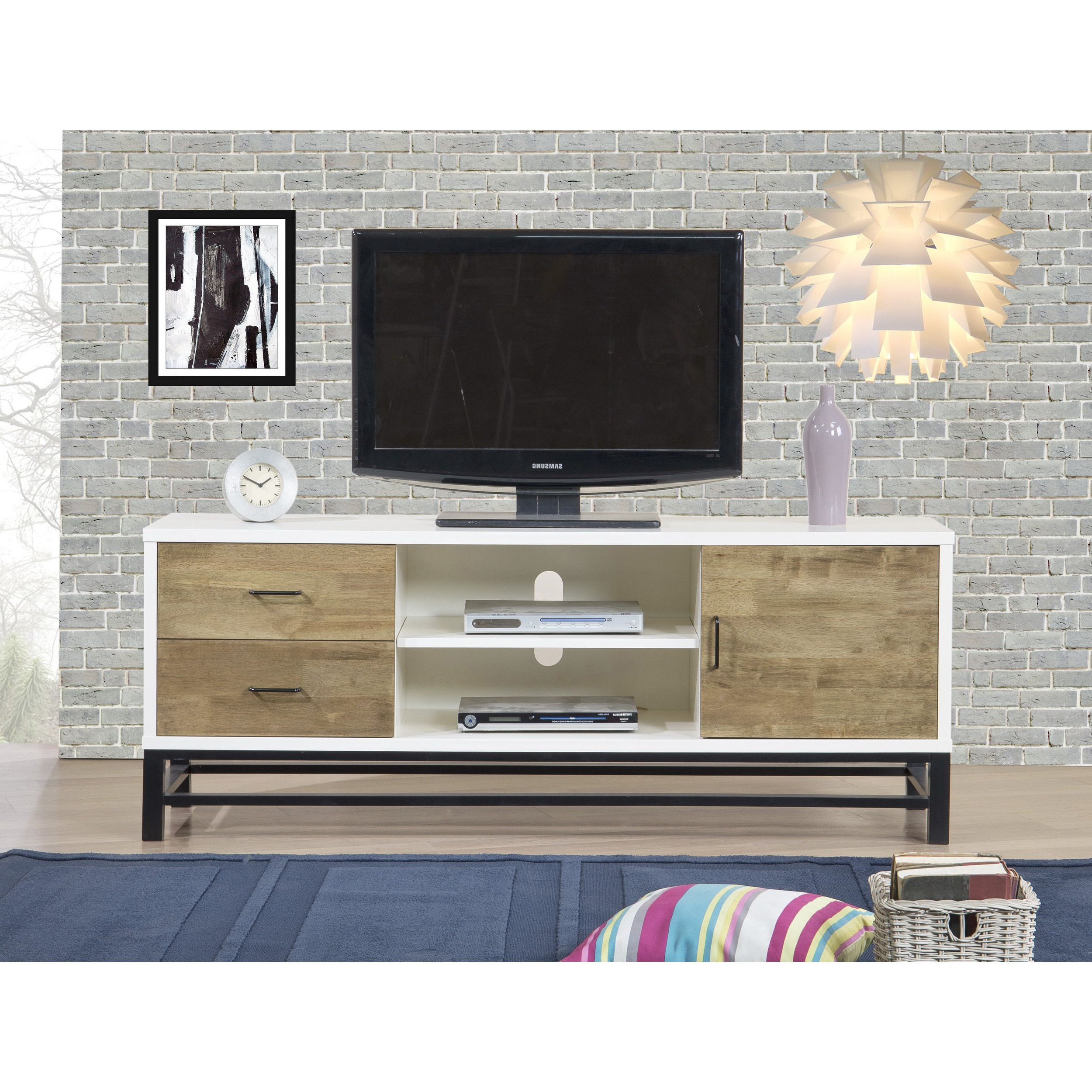 Shop Henna 63 Inch Entertainment Center Console – Free Shipping Throughout Combs 63 Inch Tv Stands (Gallery 4 of 20)