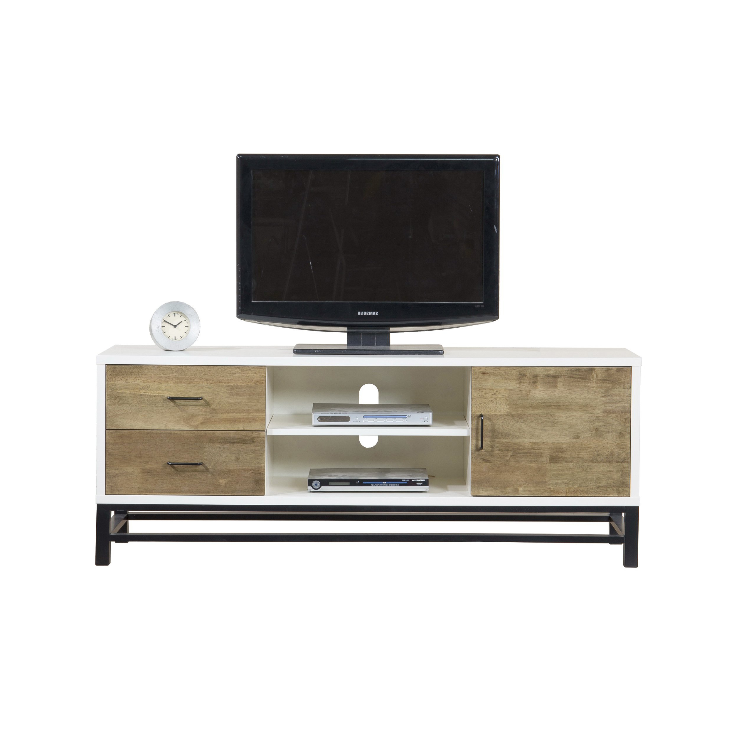Shop Henna 63 Inch Entertainment Center Console – Free Shipping With Combs 63 Inch Tv Stands (Gallery 7 of 20)