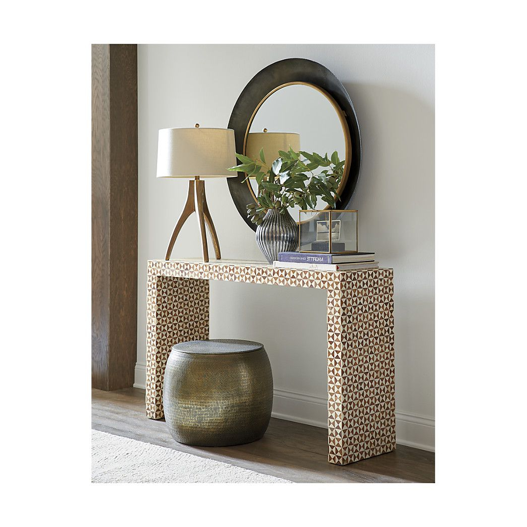Shop Intarsia Bone Inlay Console Table. The Intarsia Bone Inlay With Regard To Intarsia Console Tables (Gallery 8 of 20)
