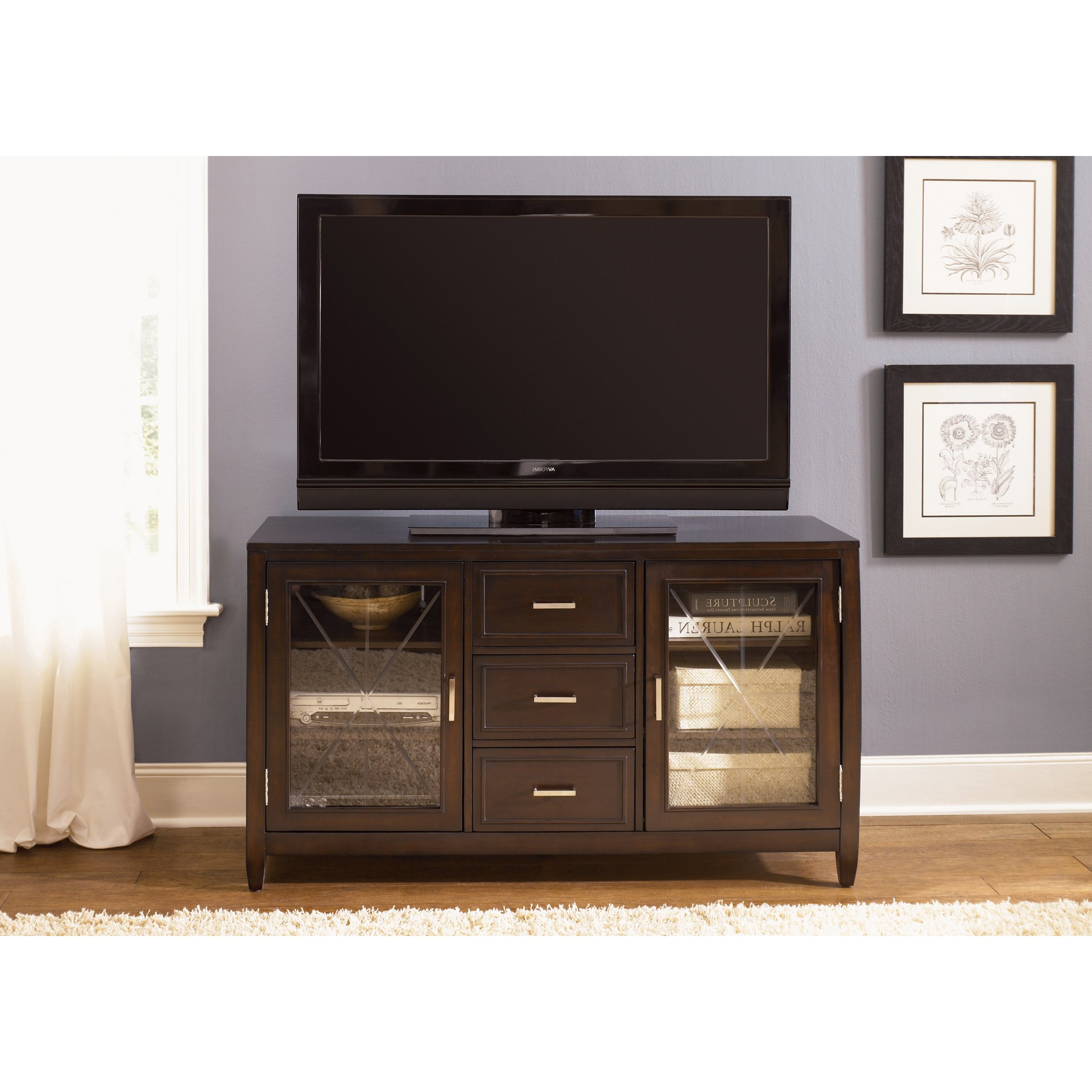 Shop Liberty Caroline 60 Inch Entertainment Tv Stand – On Sale With Laurent 60 Inch Tv Stands (View 12 of 20)