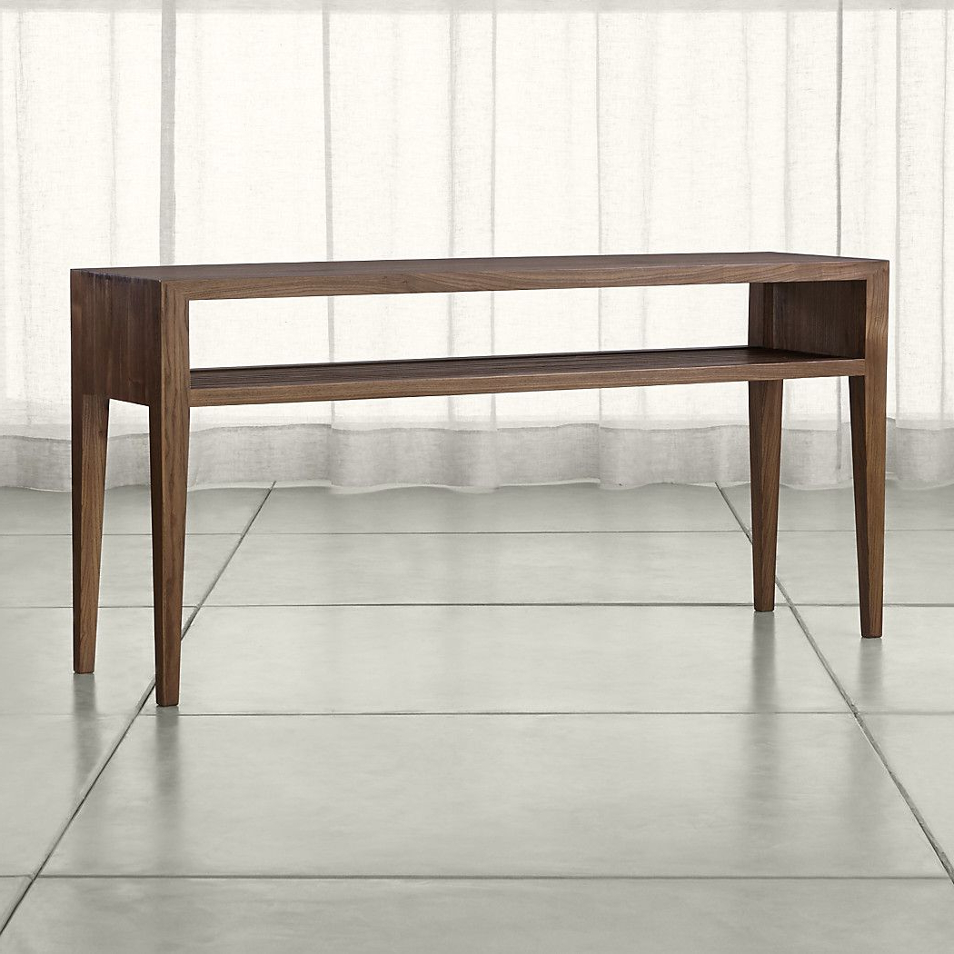 Shop Marin Shiitake Solid Wood Console Table. Open, Airy Console Inside Ventana Display Console Tables (Gallery 7 of 20)