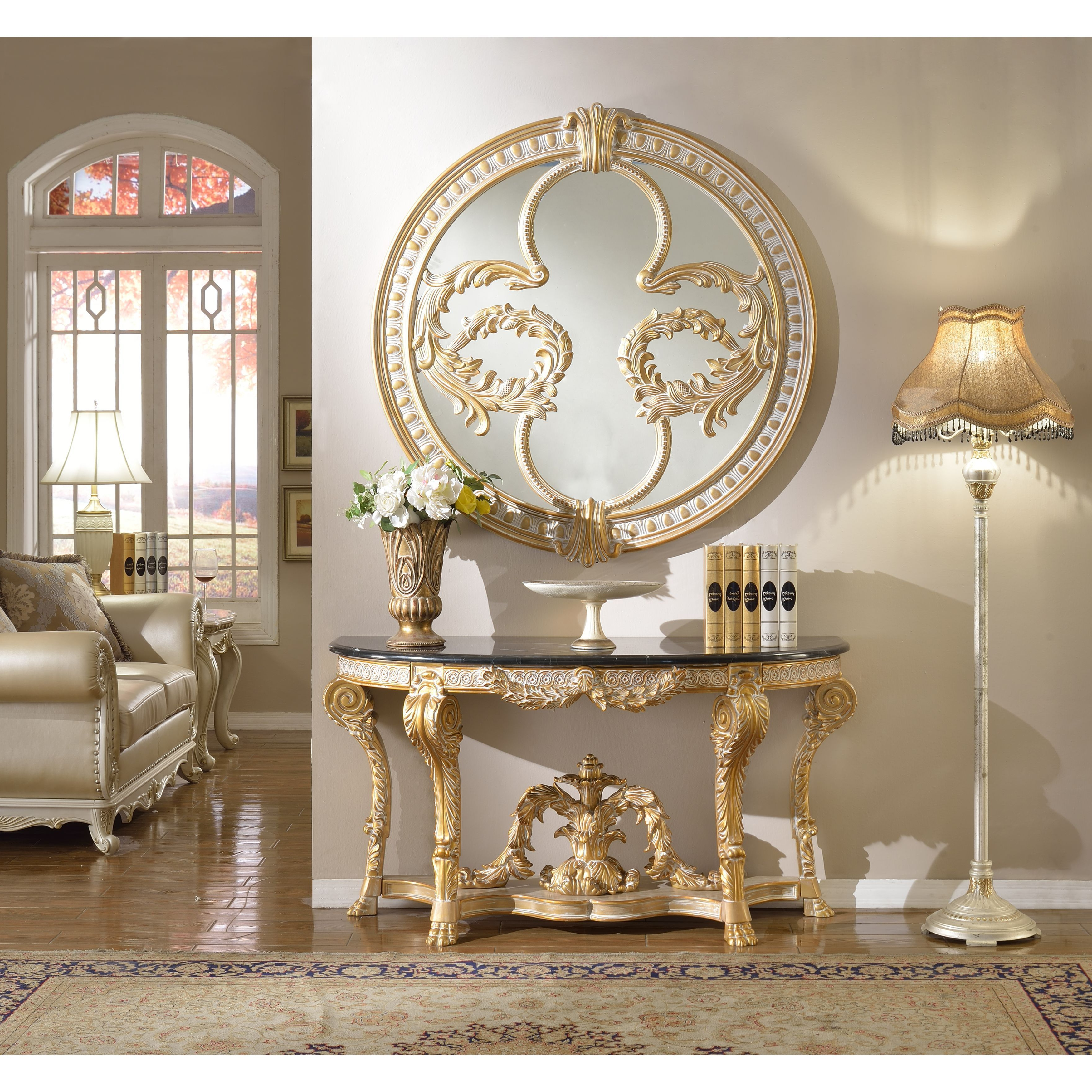 Shop Meridian Furniture Versailles Marble Top Console Table And Regarding Roman Metal Top Console Tables (View 16 of 20)