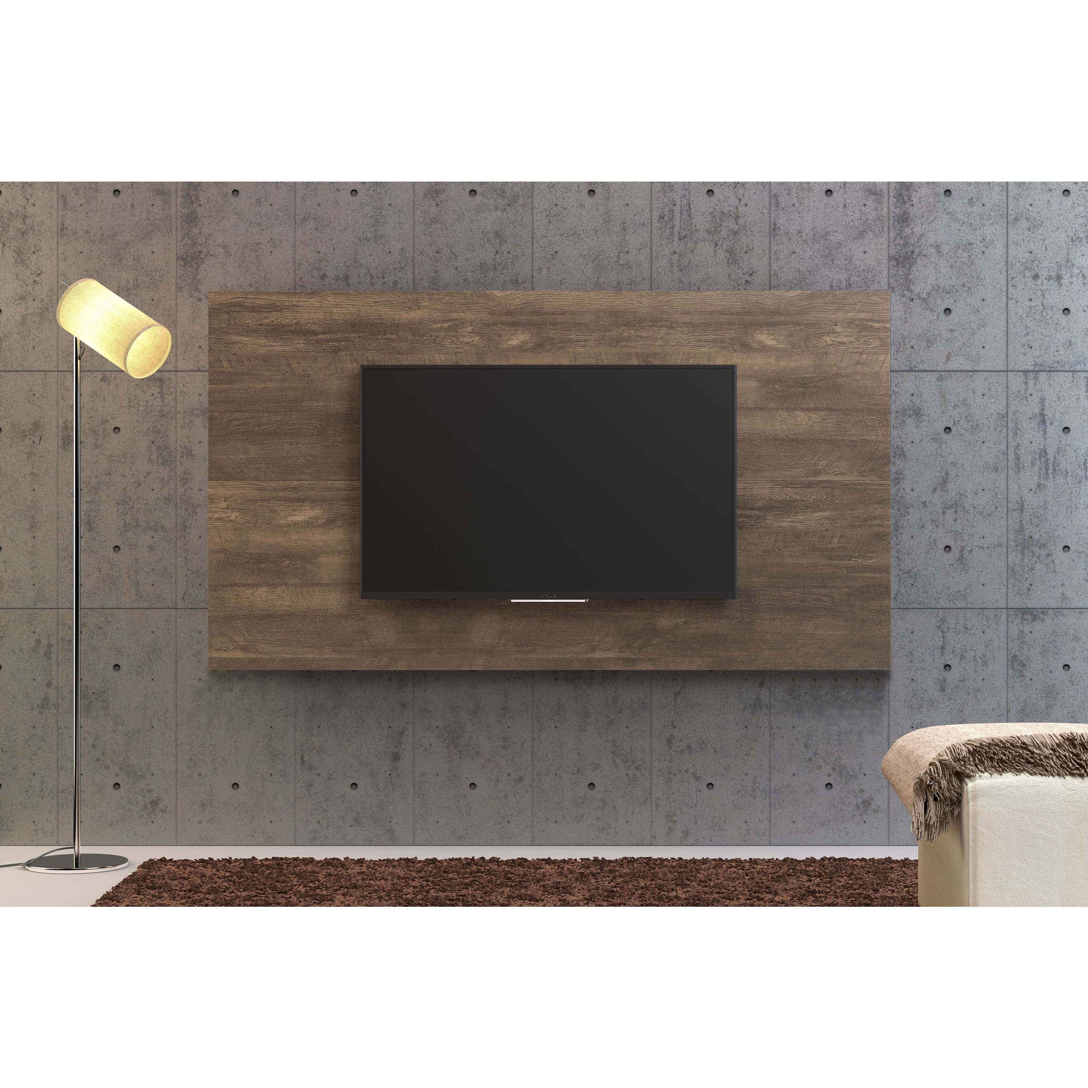 Shop Midtown Concept Barcelona Distressed Grey 70 Inch Mid Century Intended For Valencia 70 Inch Tv Stands (View 15 of 20)