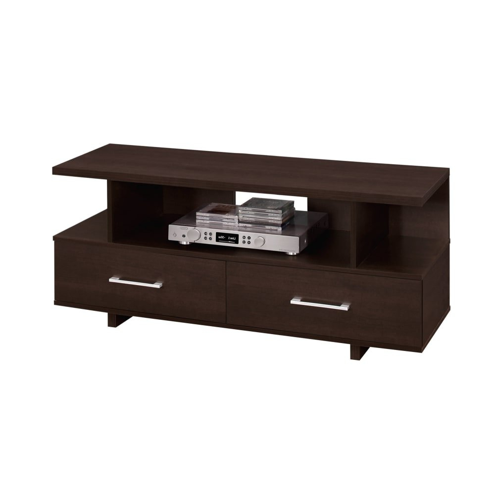 Shop Monarch Specialties I 2606 47 Inch X 15 Inch Wood Tv Stand Inside Maddy 60 Inch Tv Stands (View 15 of 20)