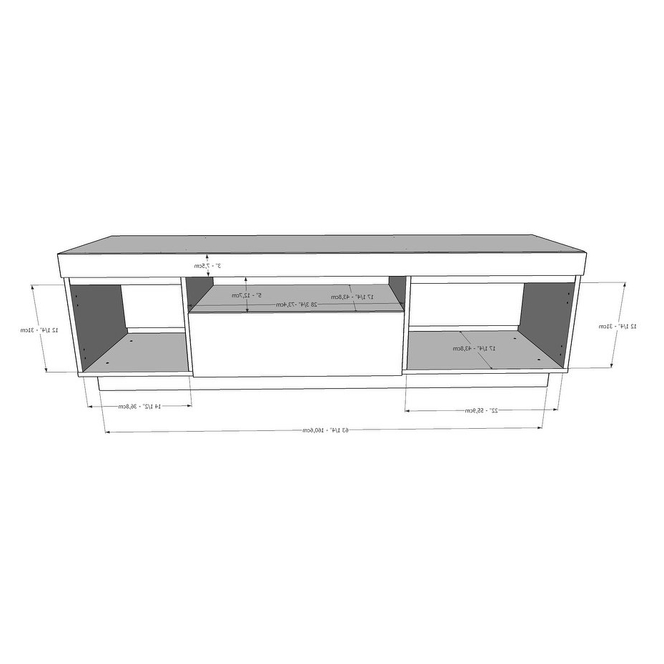 Shop Nexera Lima Tv Stand, Bark Grey And Black – Free Shipping Today Throughout Noah Rustic White 66 Inch Tv Stands (View 18 of 20)